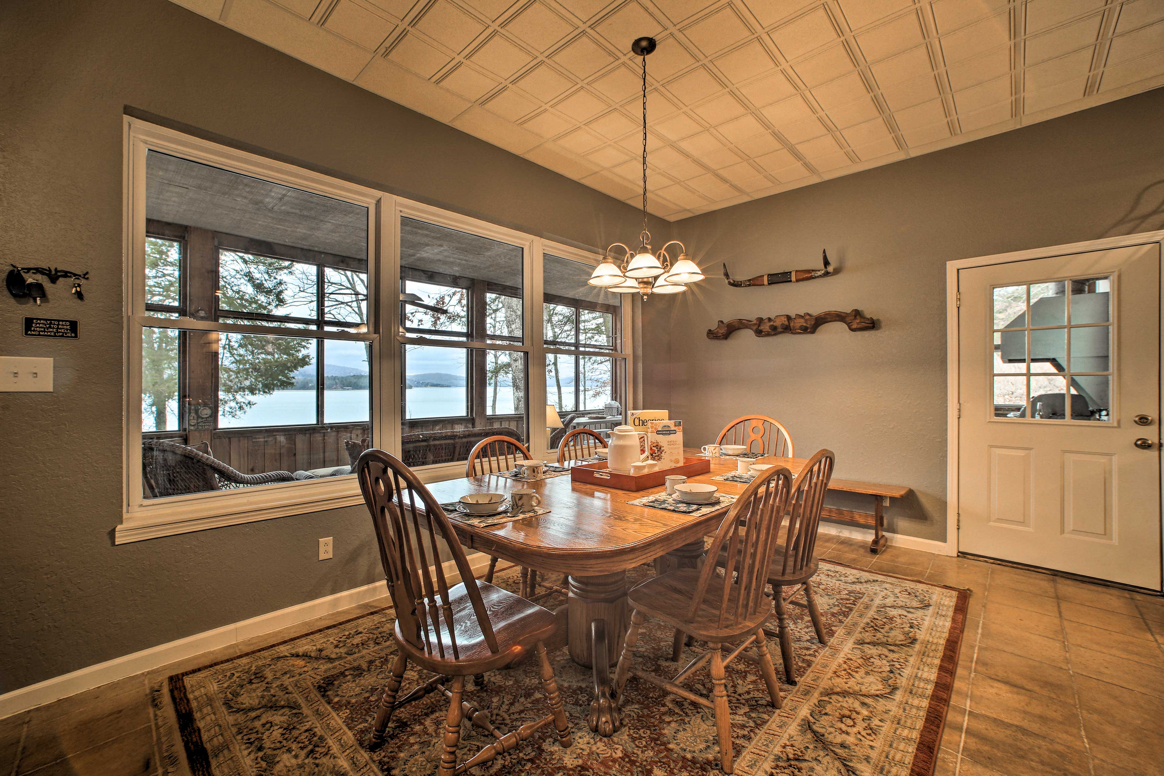 There are several dining tables to choose from at this spacious vacation home.