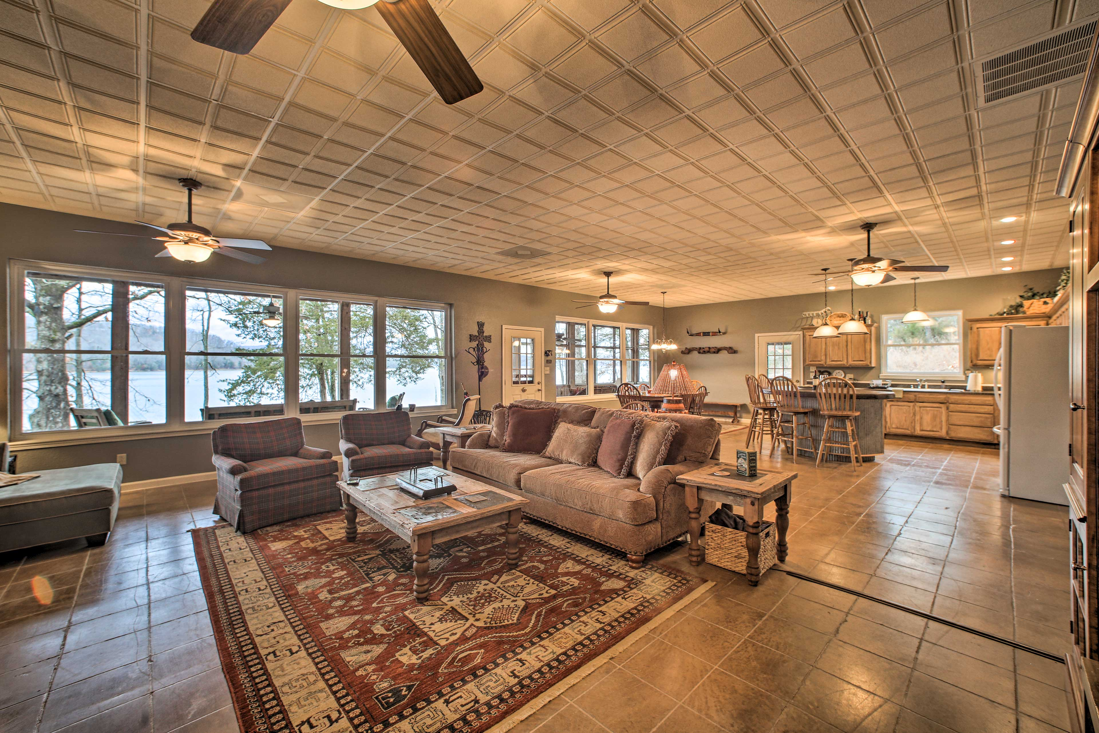 Enjoy the open layout and many windows in this 4-bed, 3-bath Beaver Lake home.