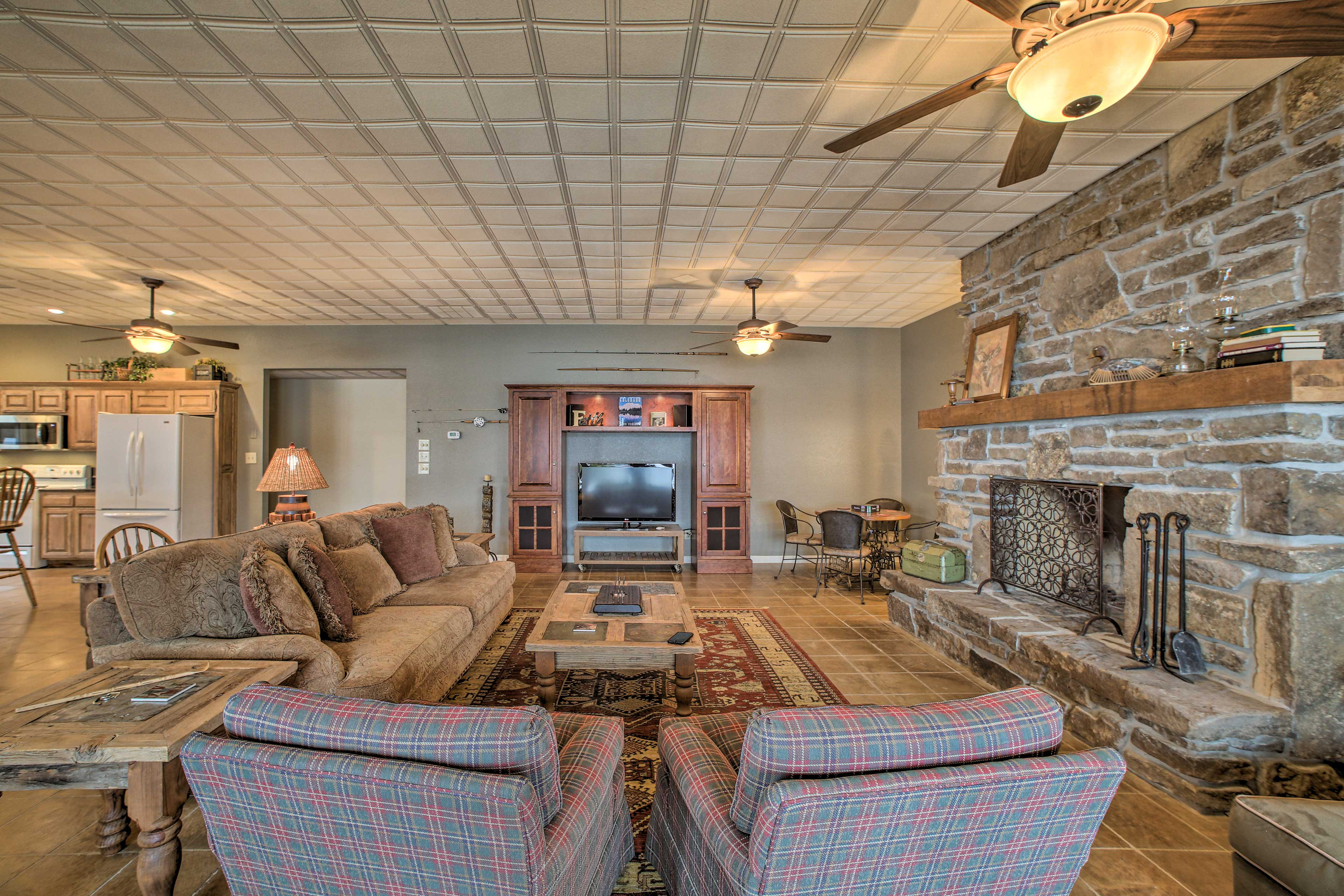 For your comfort, there are several ceiling fans throughout this home (as well as A/C).