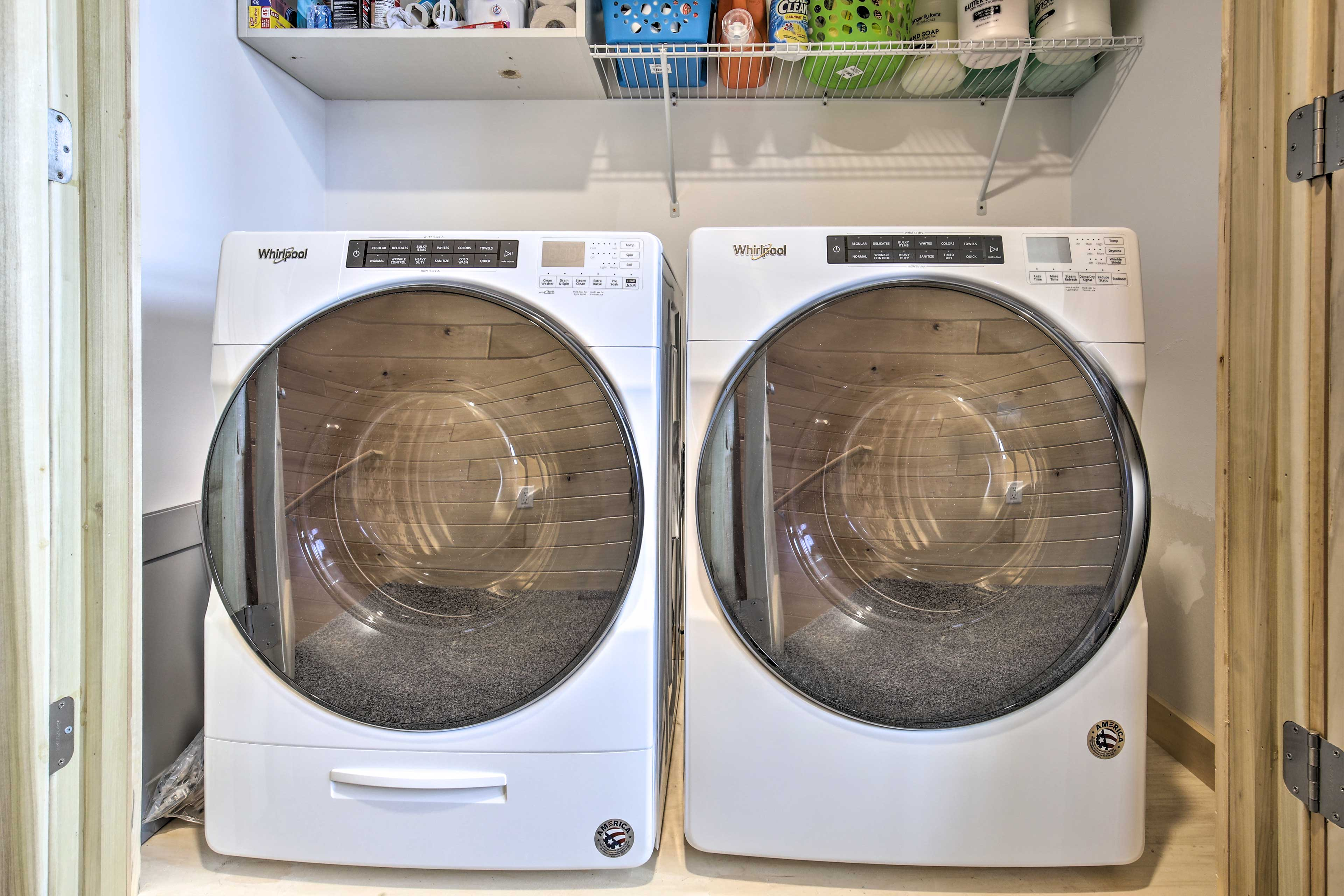 Keep your clothes fresh with a wash in the laundry machines.