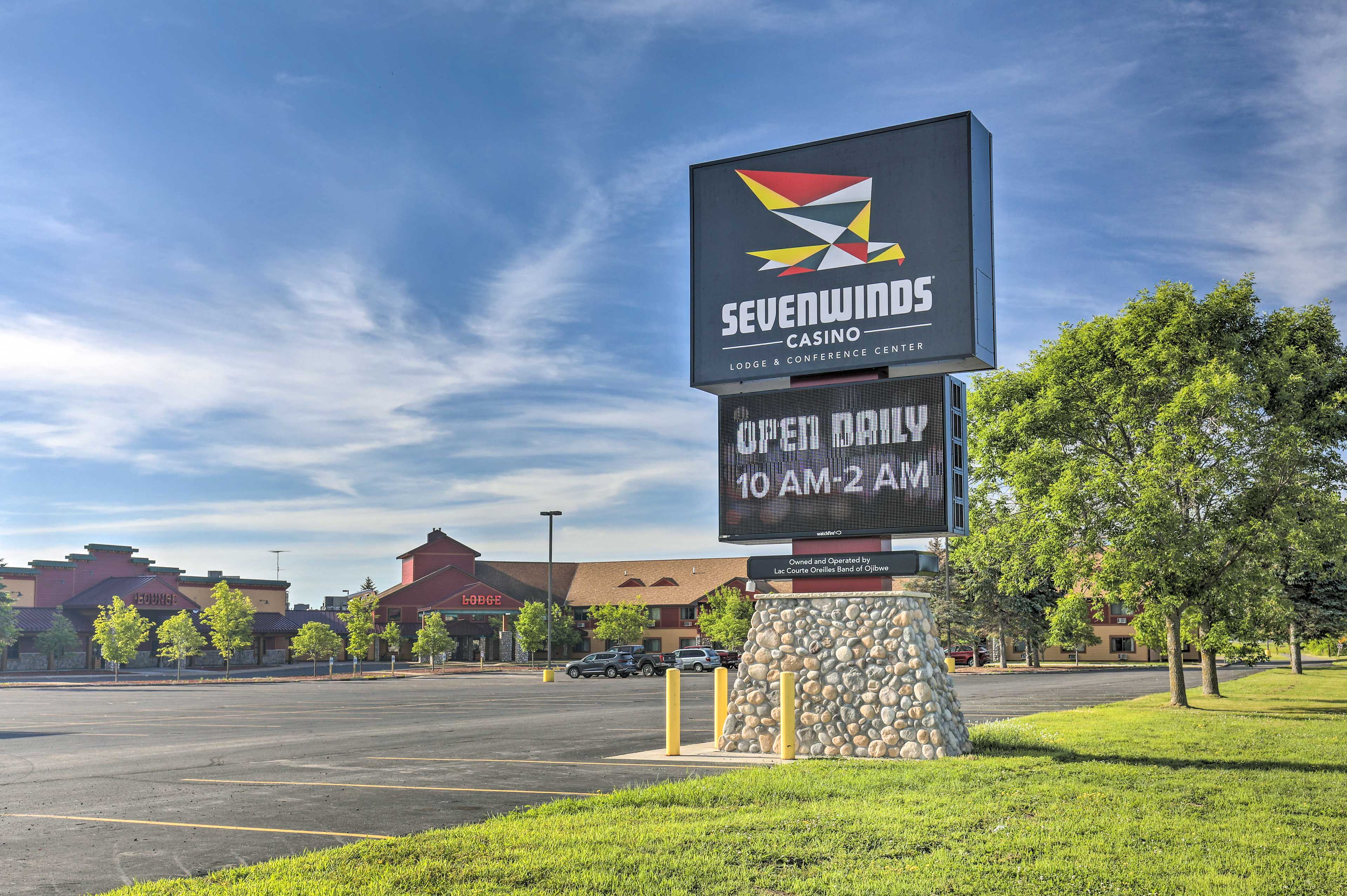 Head to Sevenwinds Casino to test your luck.