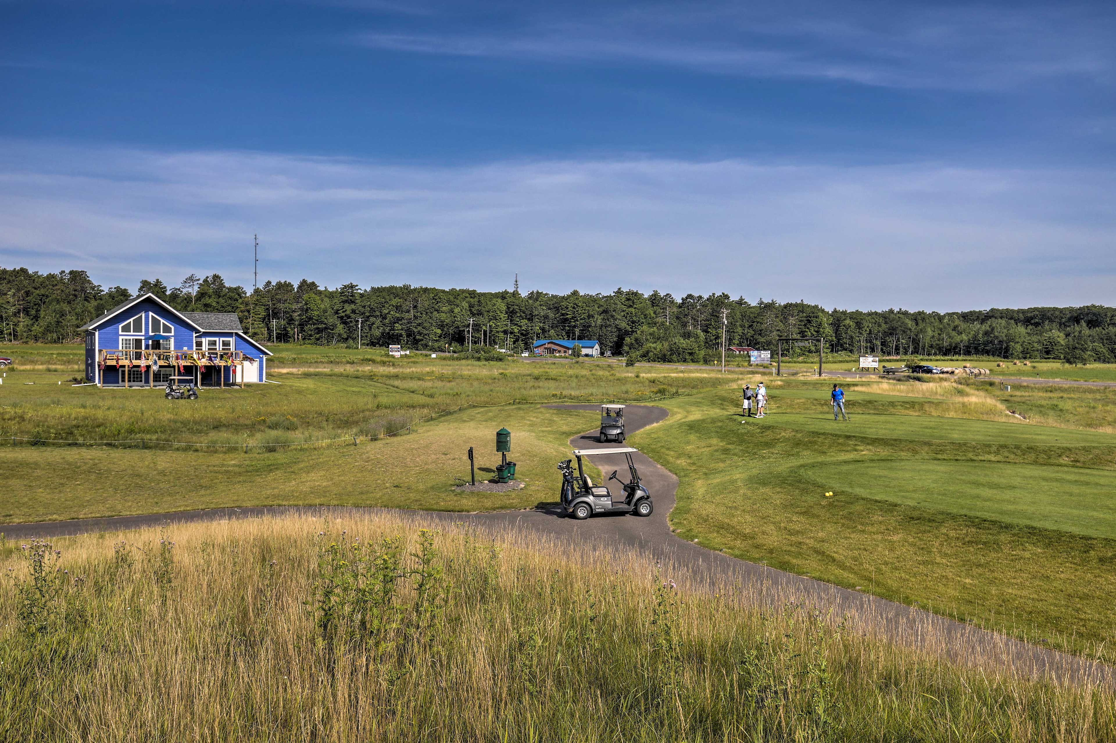 Tee off for a day on the fairways.