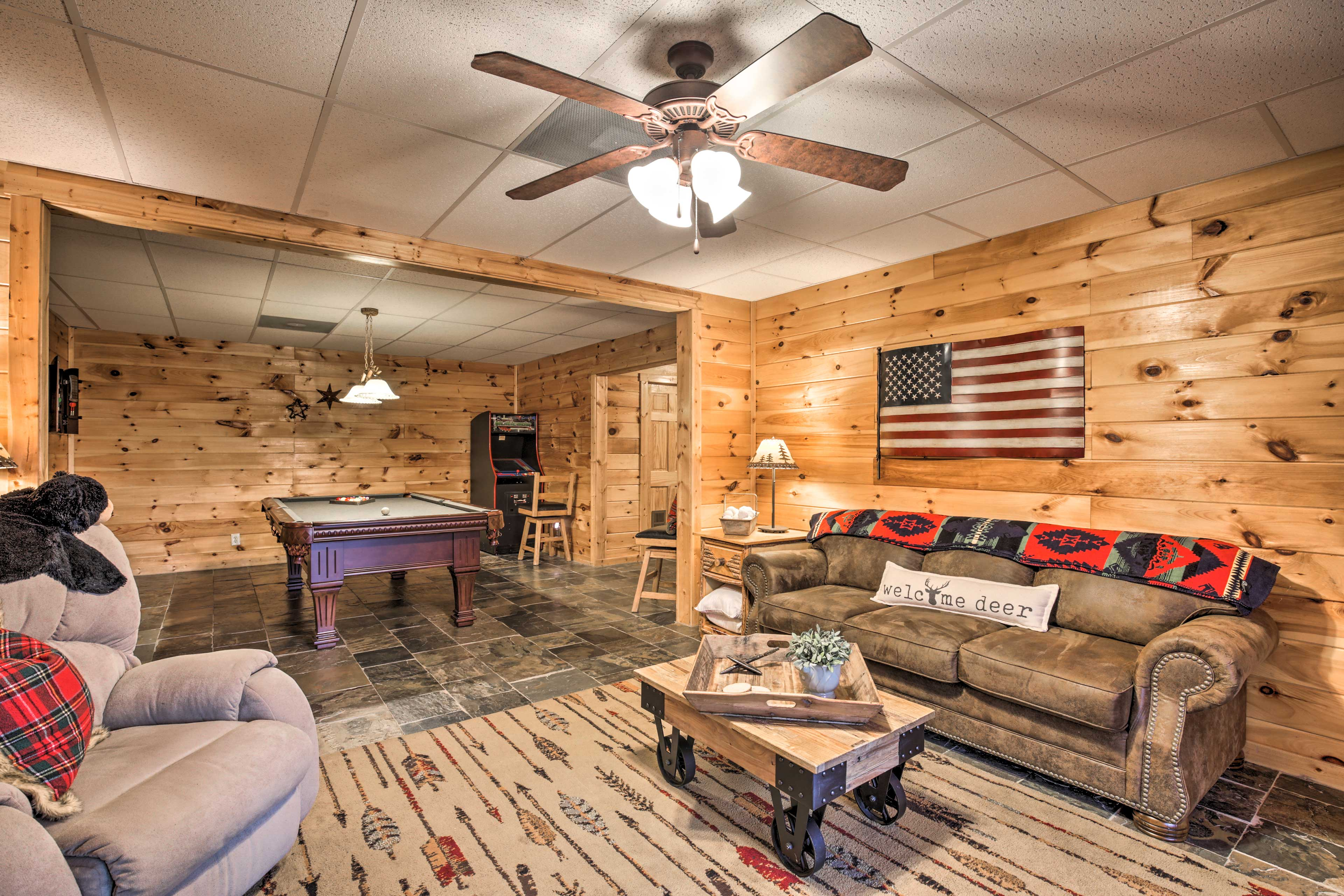 Lower Level | Game Room | Pool Table | Video Game Console