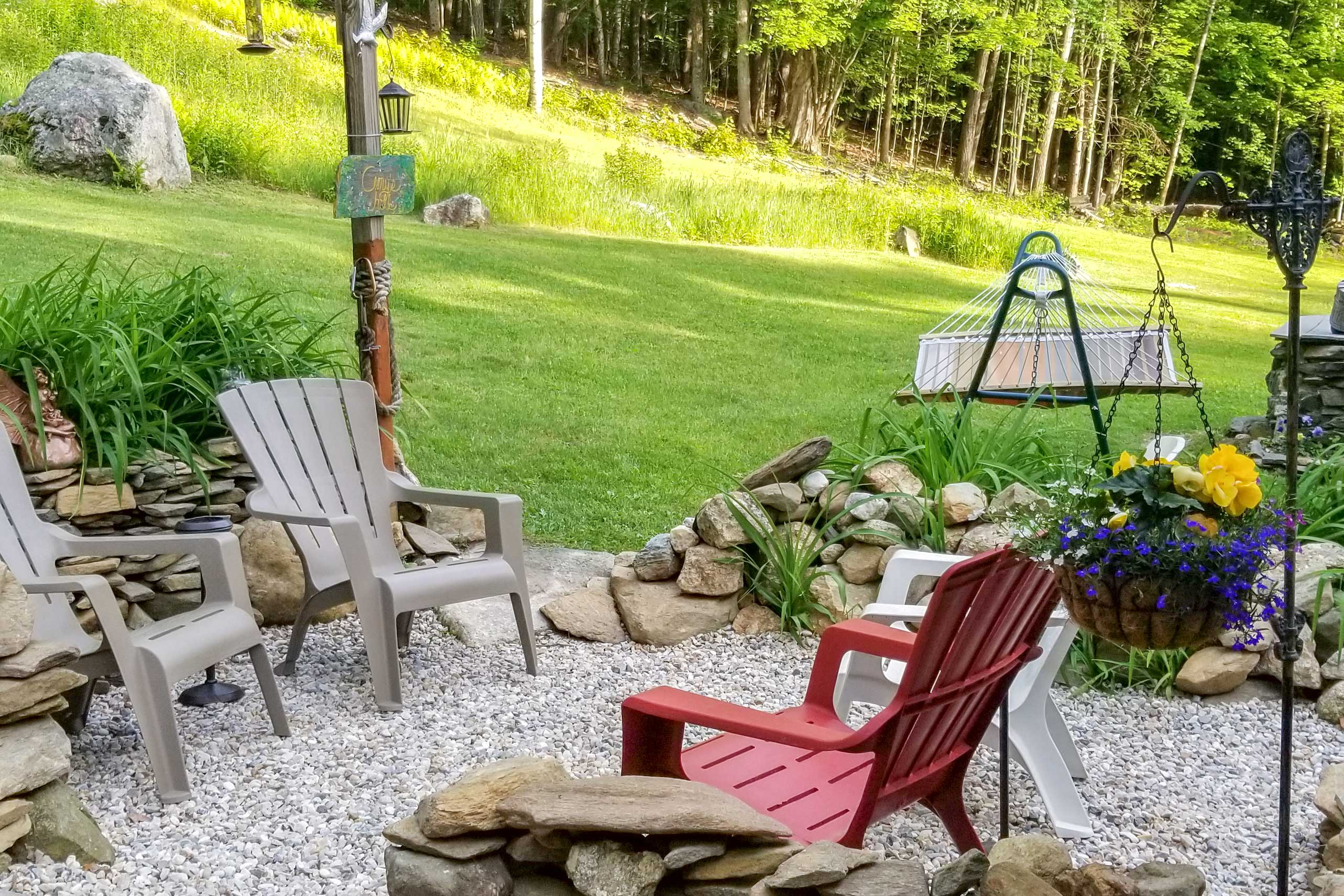 This is the perfect spot for morning coffee.