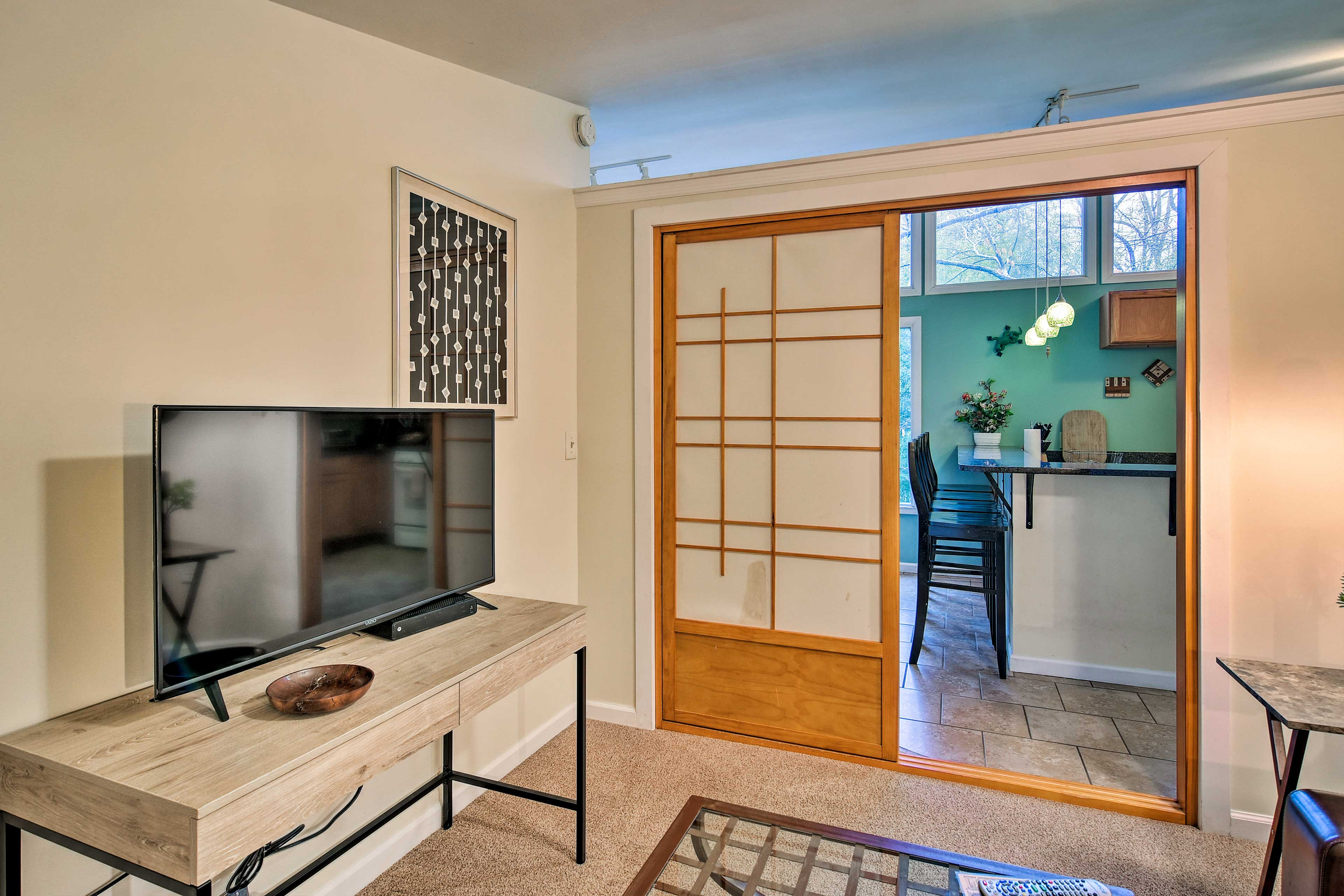 The zen feng shui of the apartment will ease your stress.