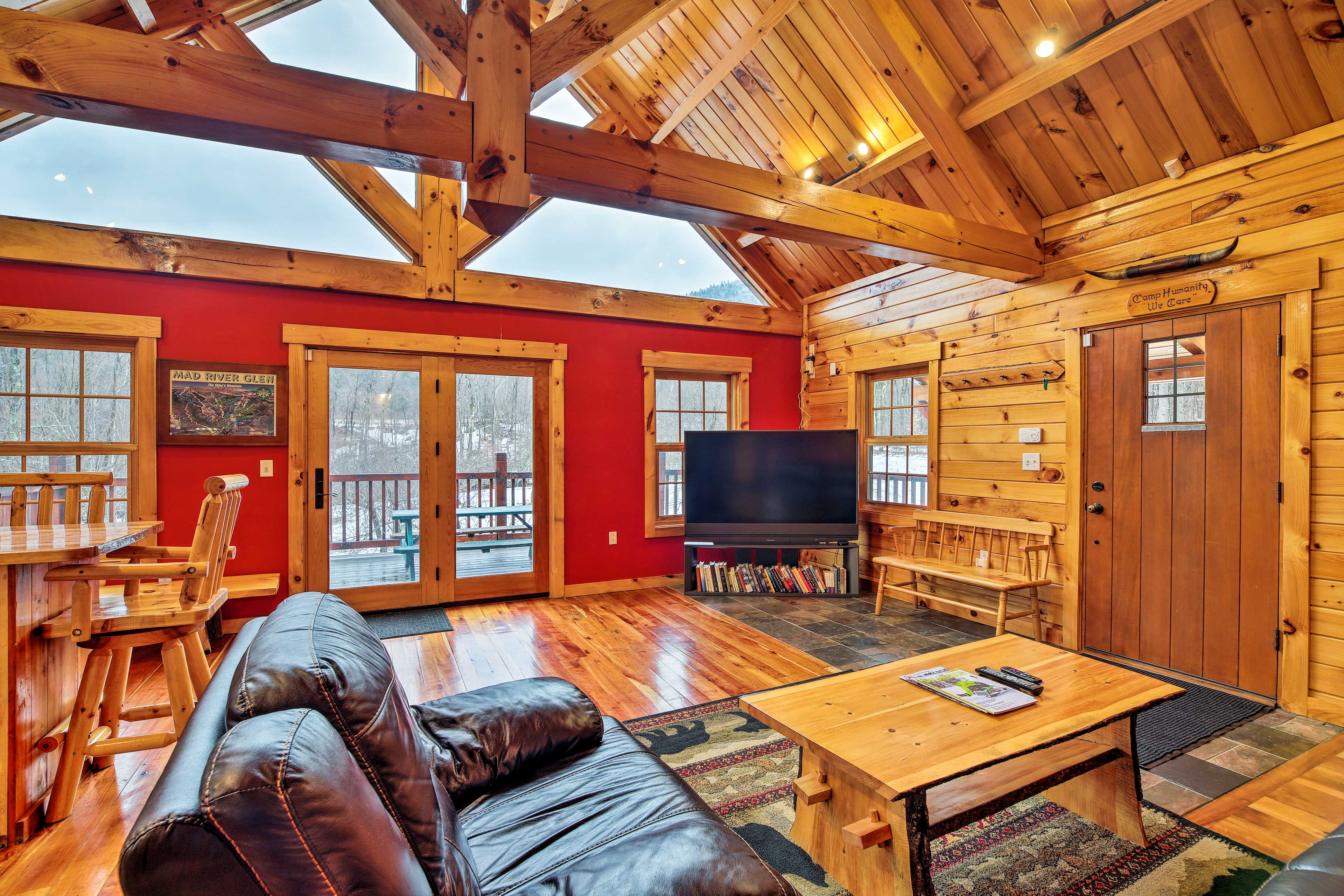 Venture to Vermont and stay at this cabin!