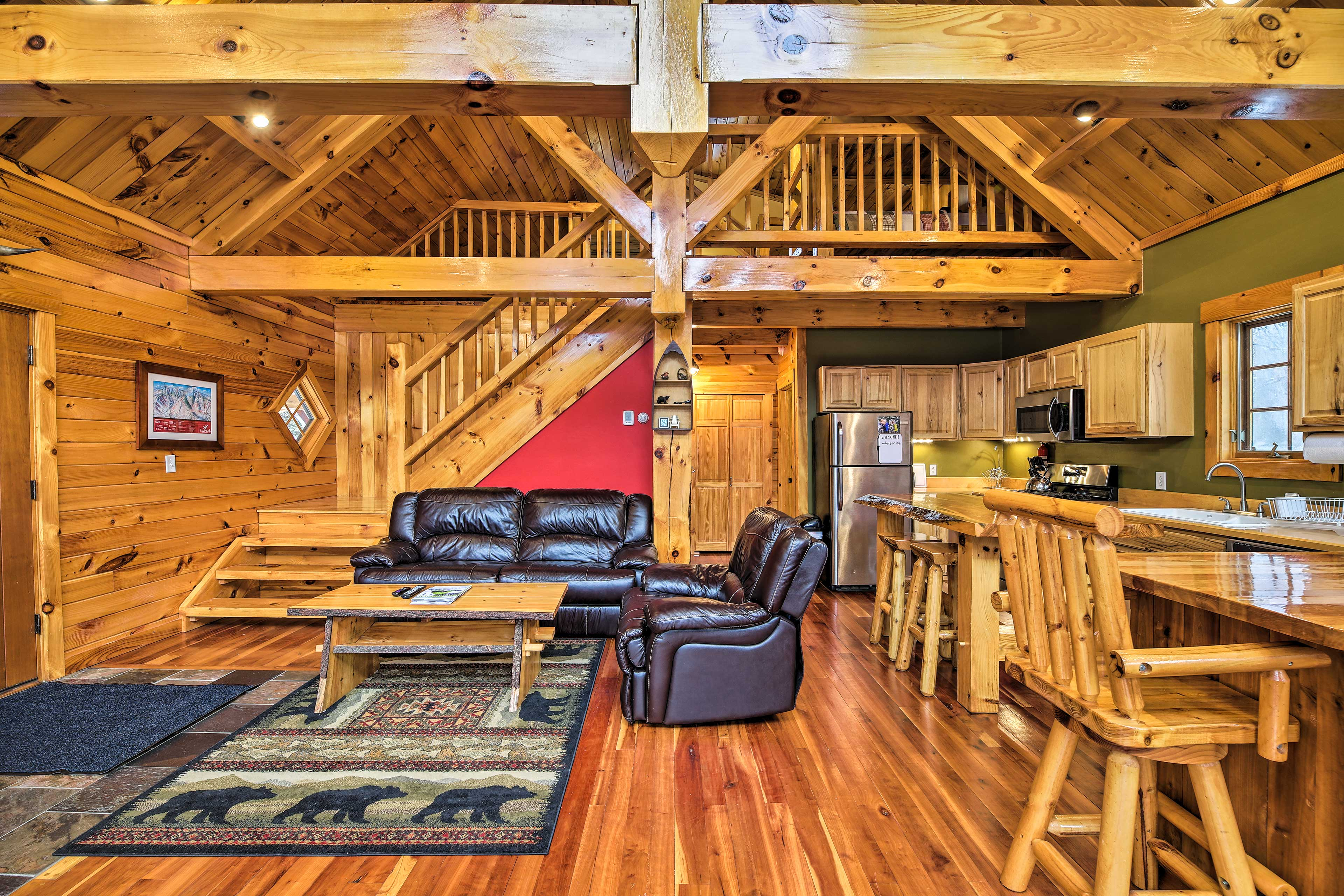You'll find hardwood floors throughout.