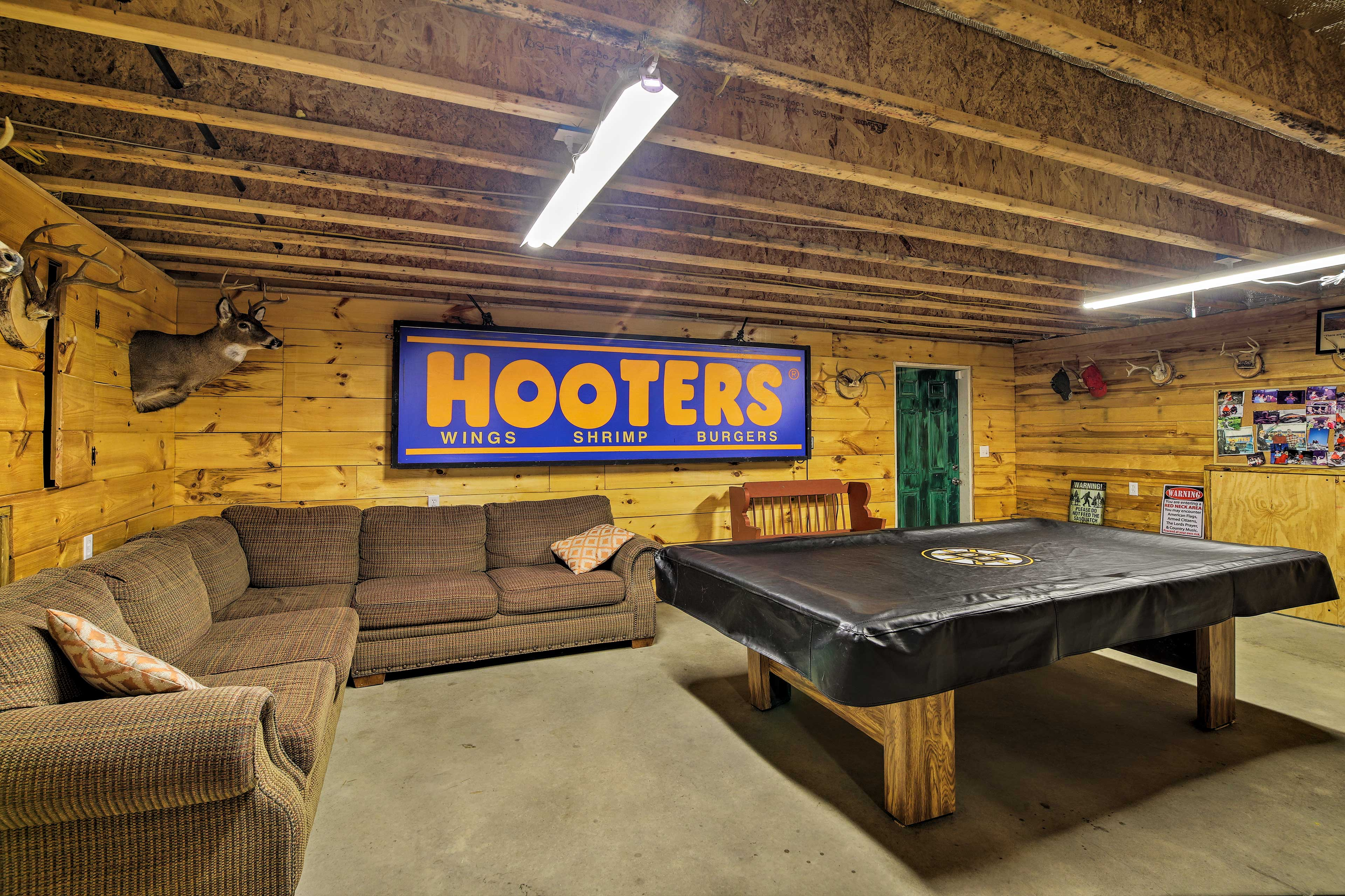 Choose between a variety of games in the game room!