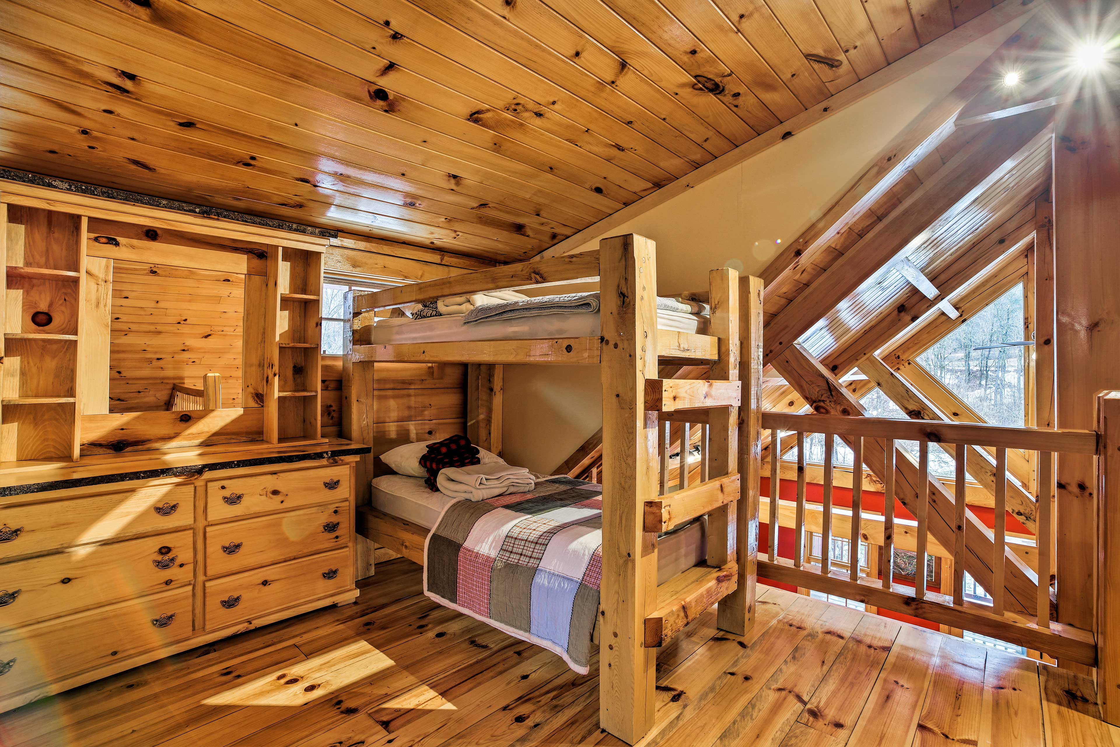 Kids will love the bunk beds.