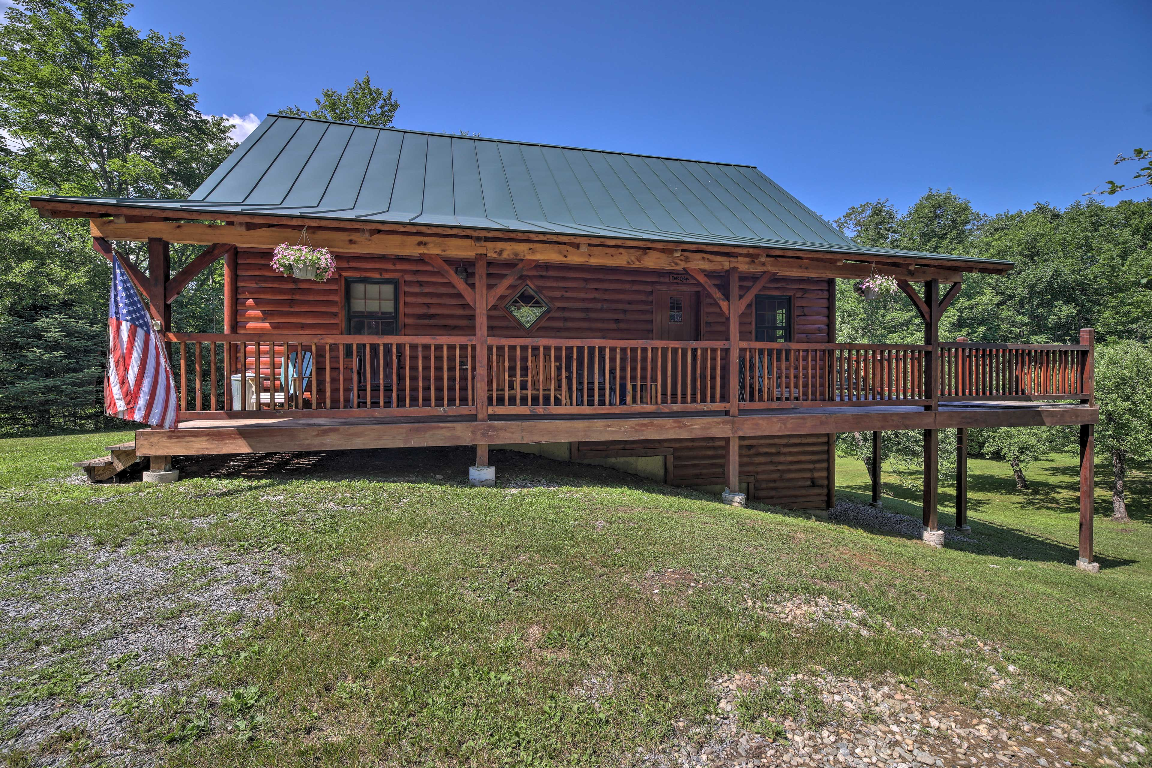 You'll love the authentic cabin feel!