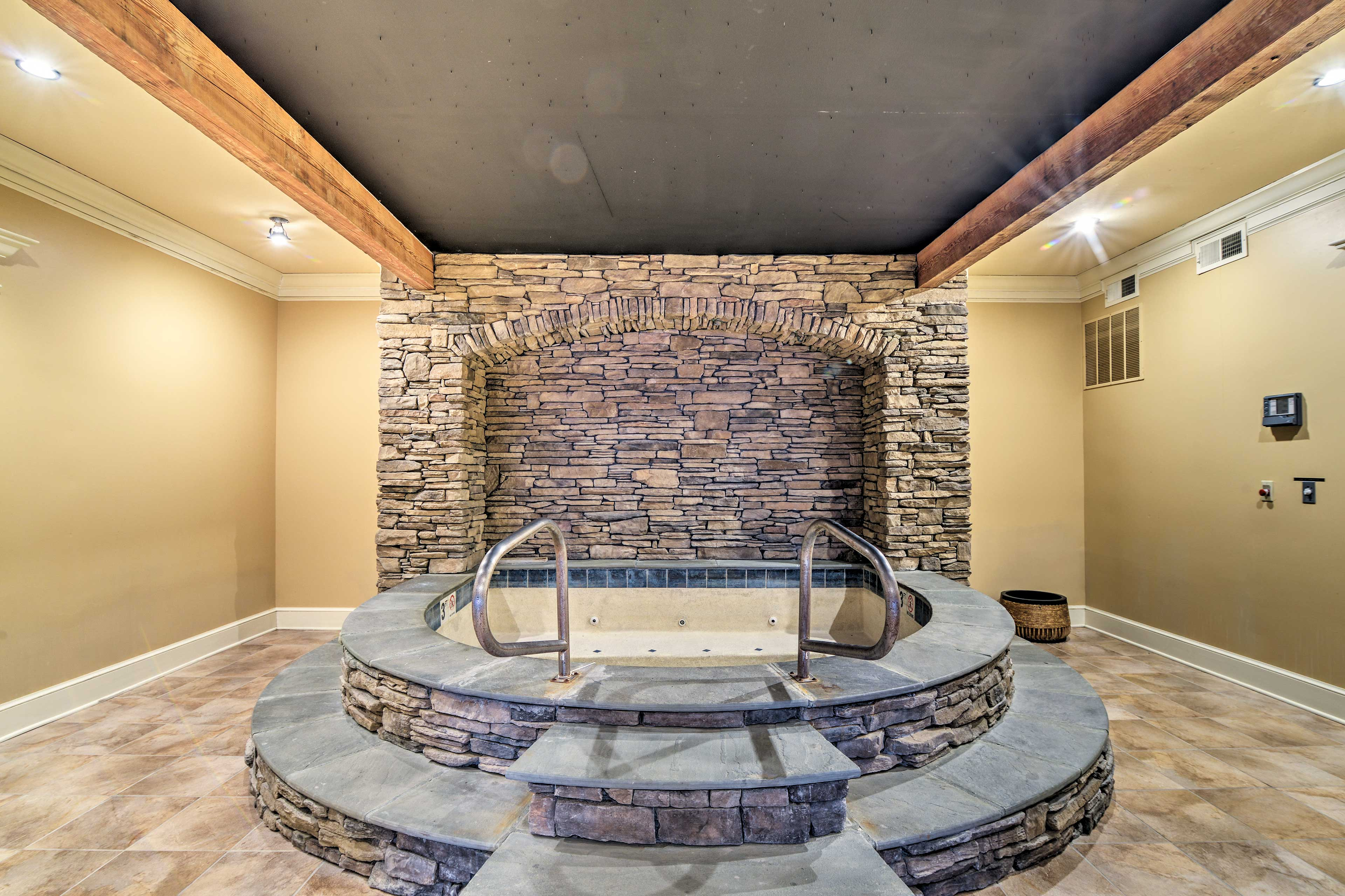 Soak in the hot tub after a long day of exploring.