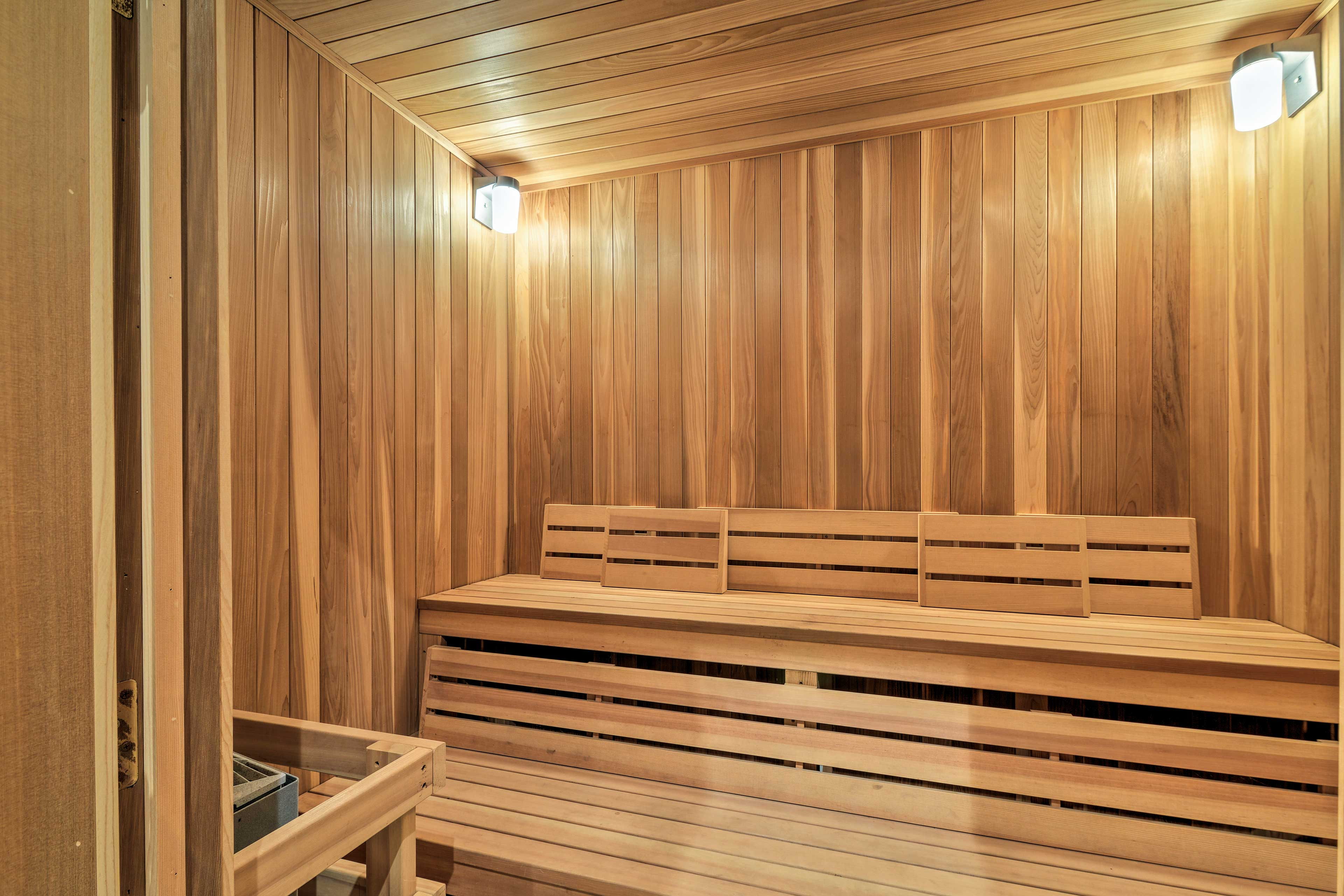 The sauna is perfect for relaxing.