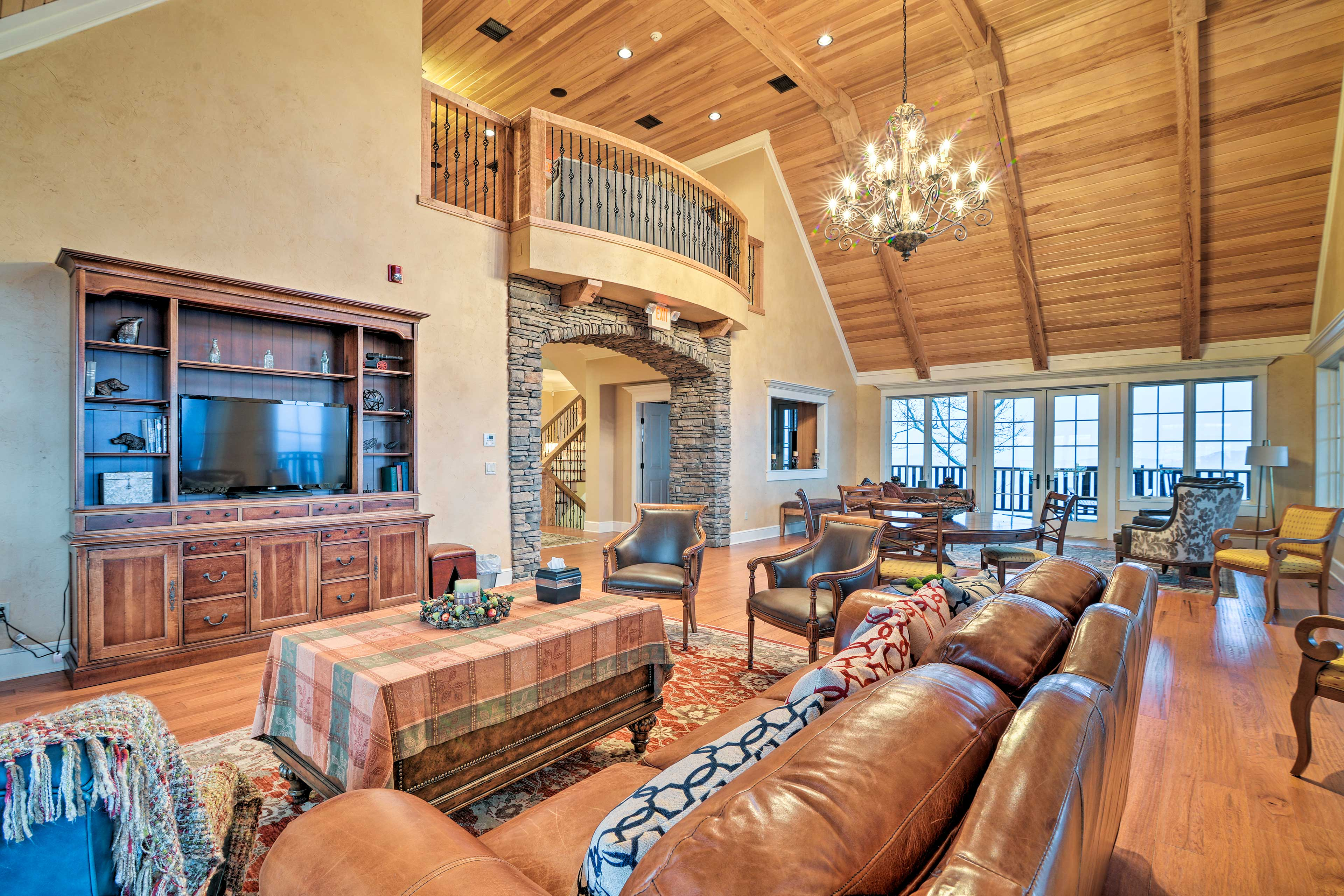 Chill out in the tastefully decorated community lodge.