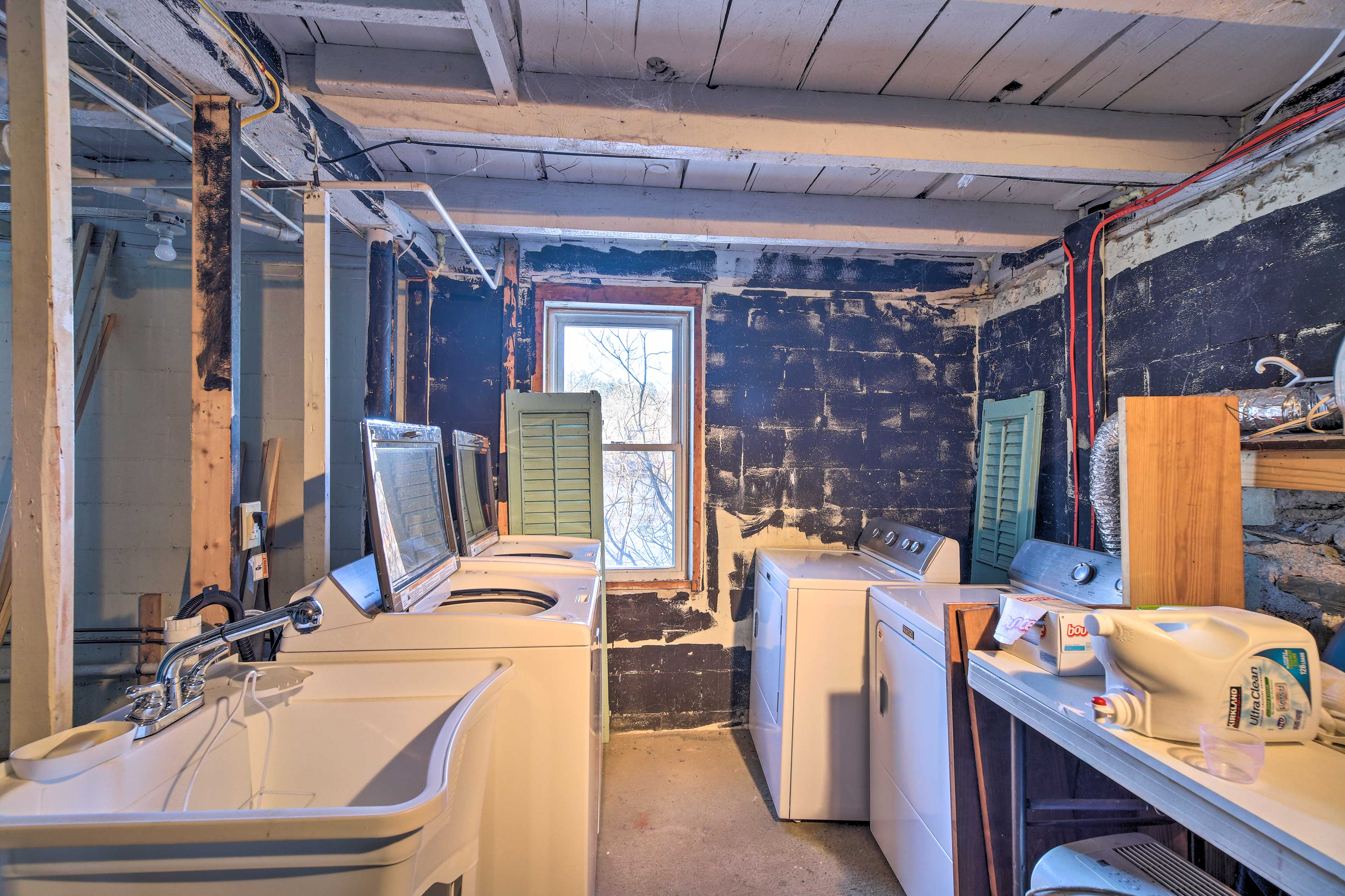You will find a washer and dryer in the basement area.