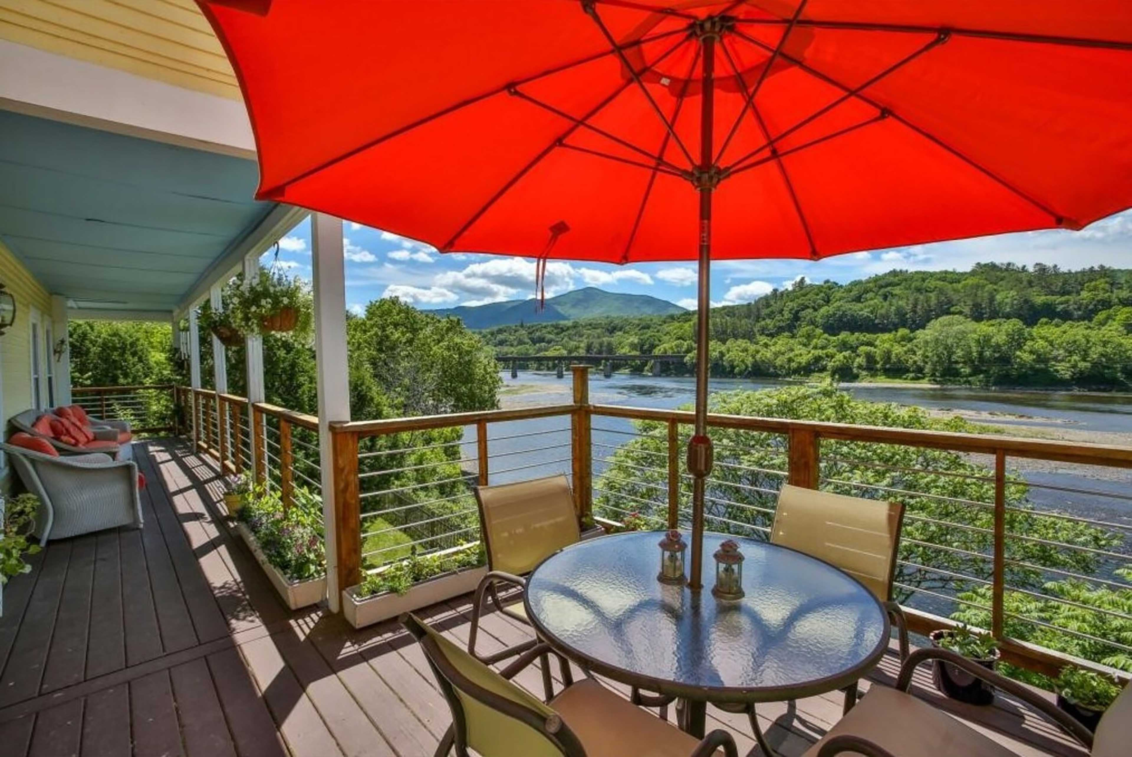This riverfront home offers something to do during all 4 seasons.