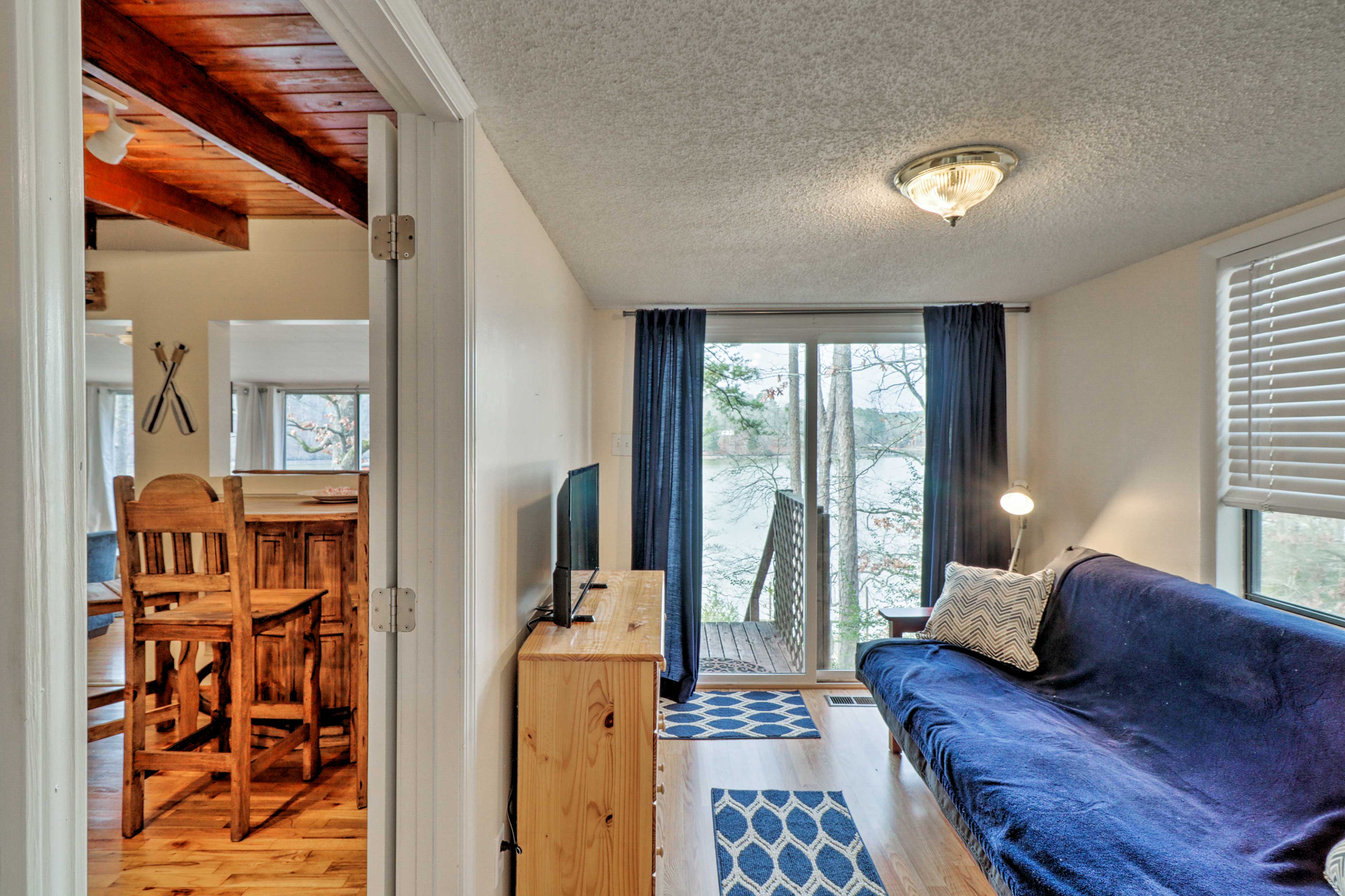 The third bedroom has a futon for sleeping at night and lounging in the daytime.