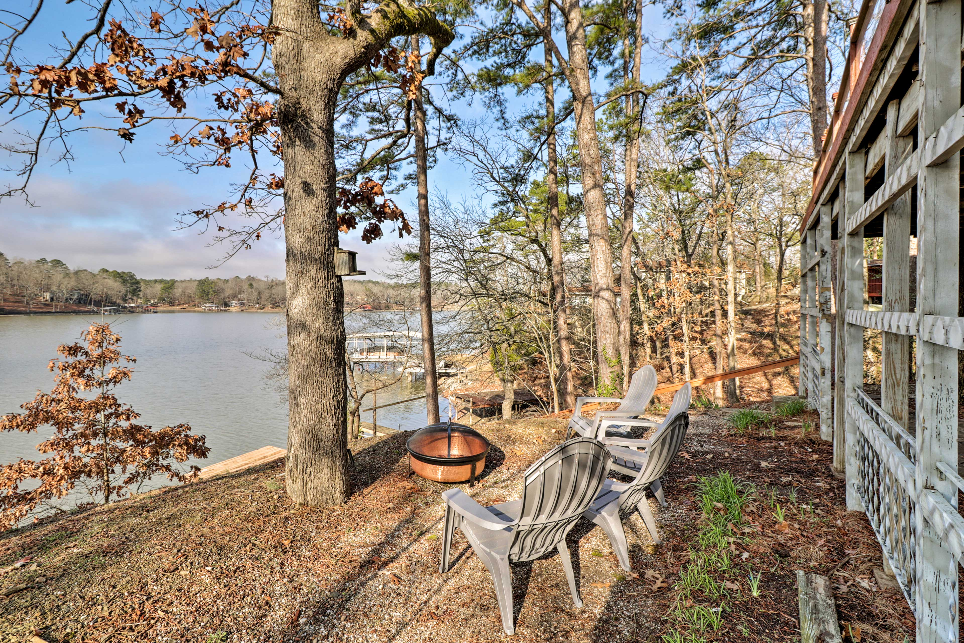 Sit around the fire pit at this Hot Springs vacation rental!