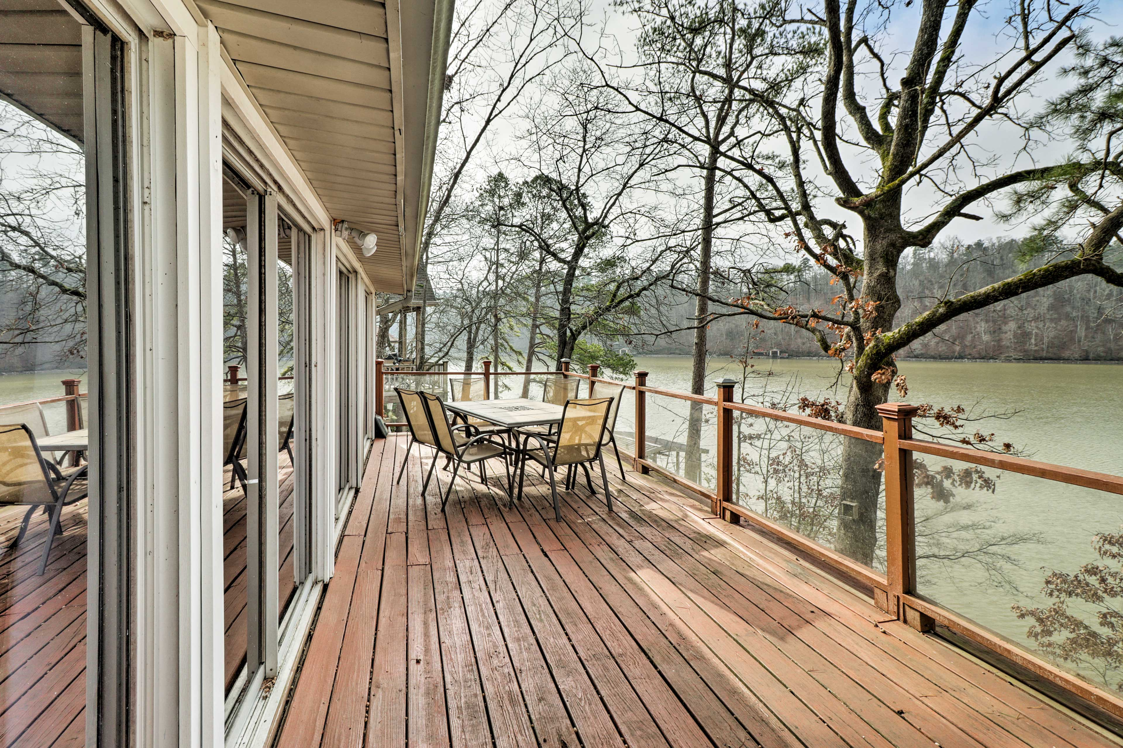 Gather your friends at this spacious property for a cookout on the deck.