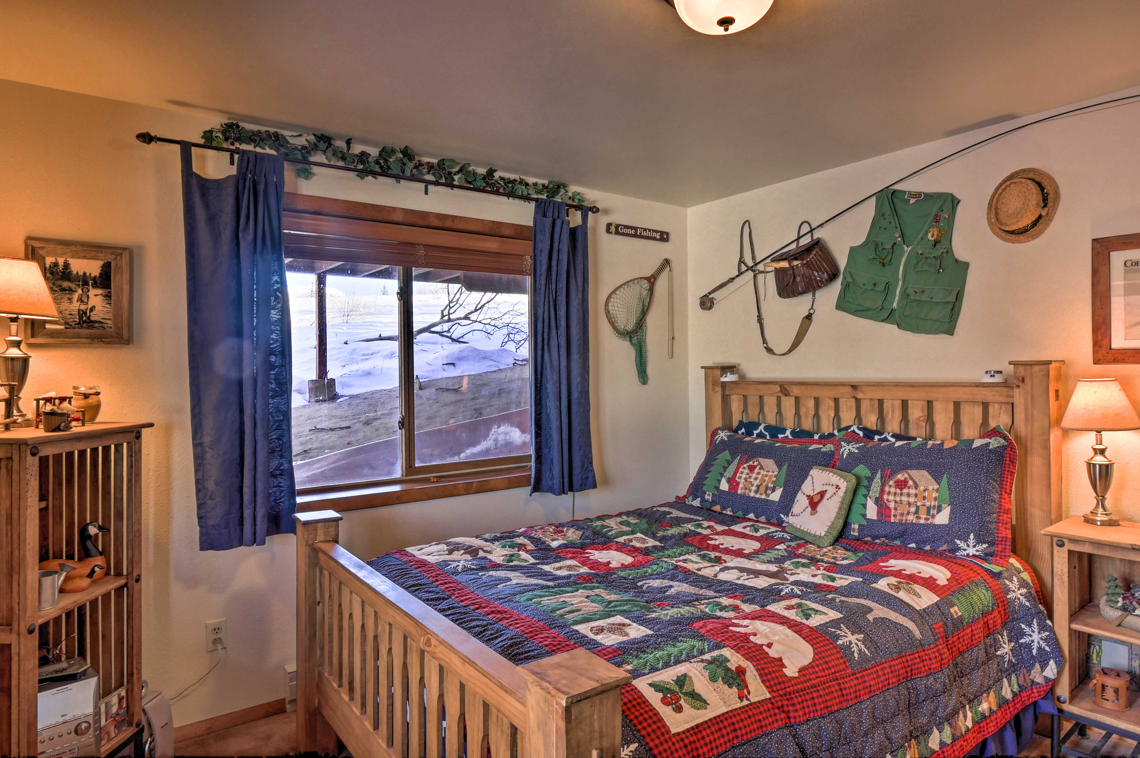 Sleep soundly in this cozy bedroom.