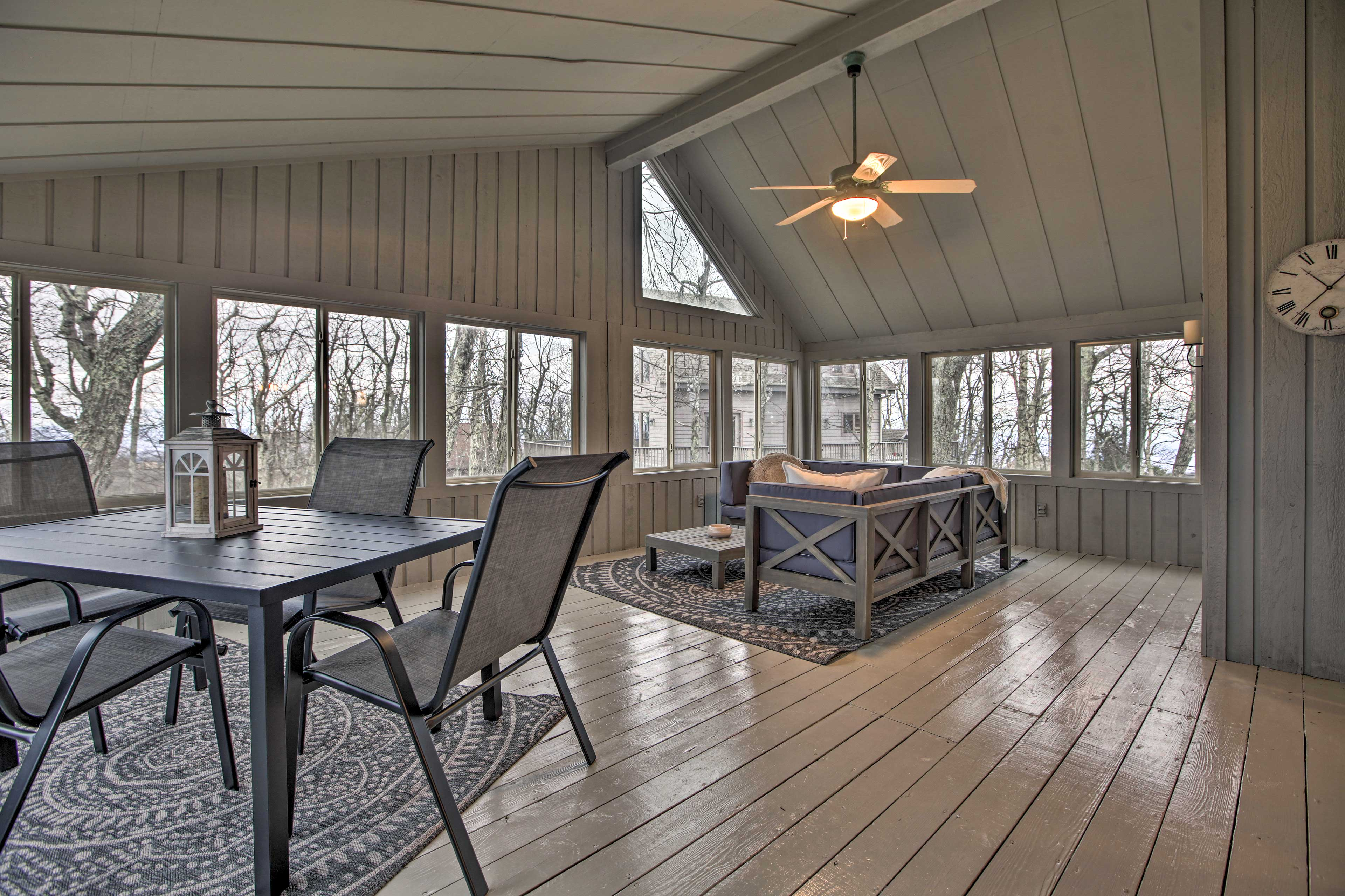 There's indoor and outdoor space for any time of the year!
