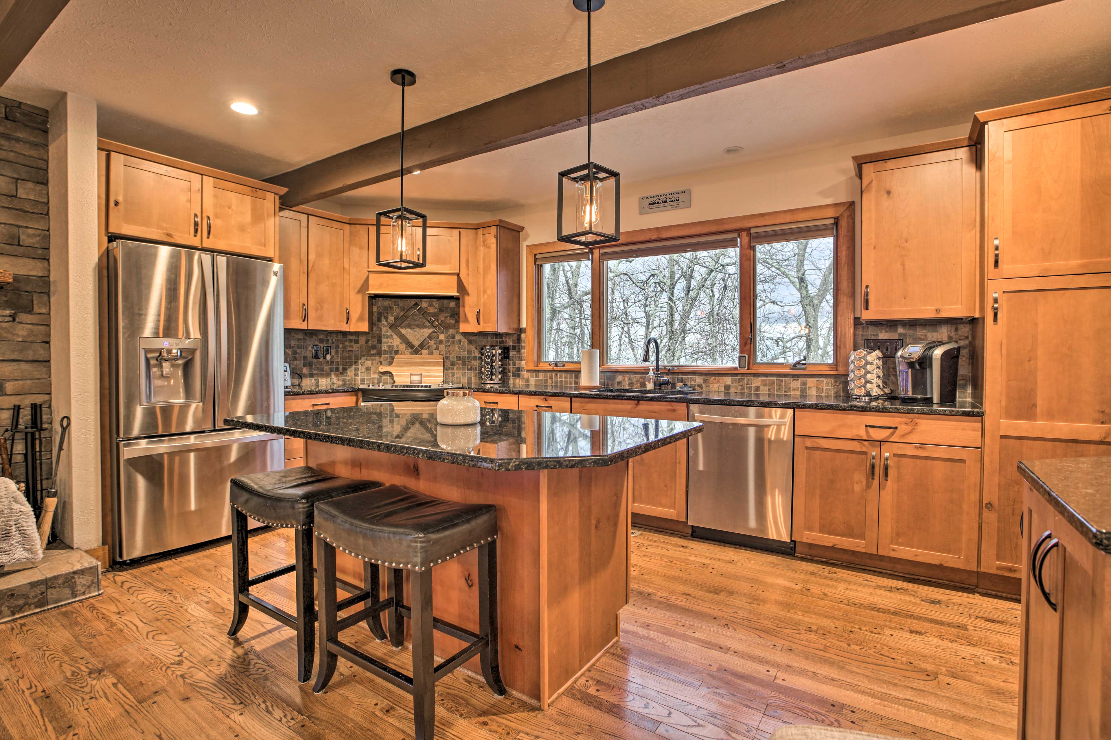 The chefs of the group will love the stainless steel appliances.