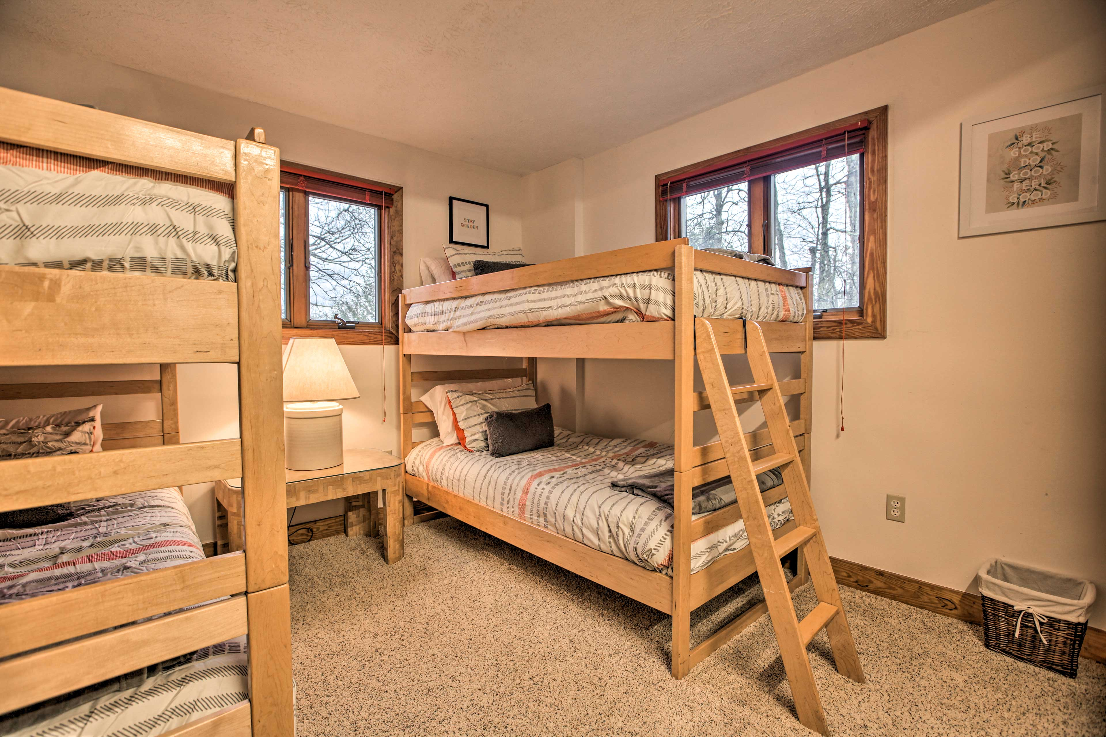 Drift off to sleep in one of the fourth bedroom's bunk beds.