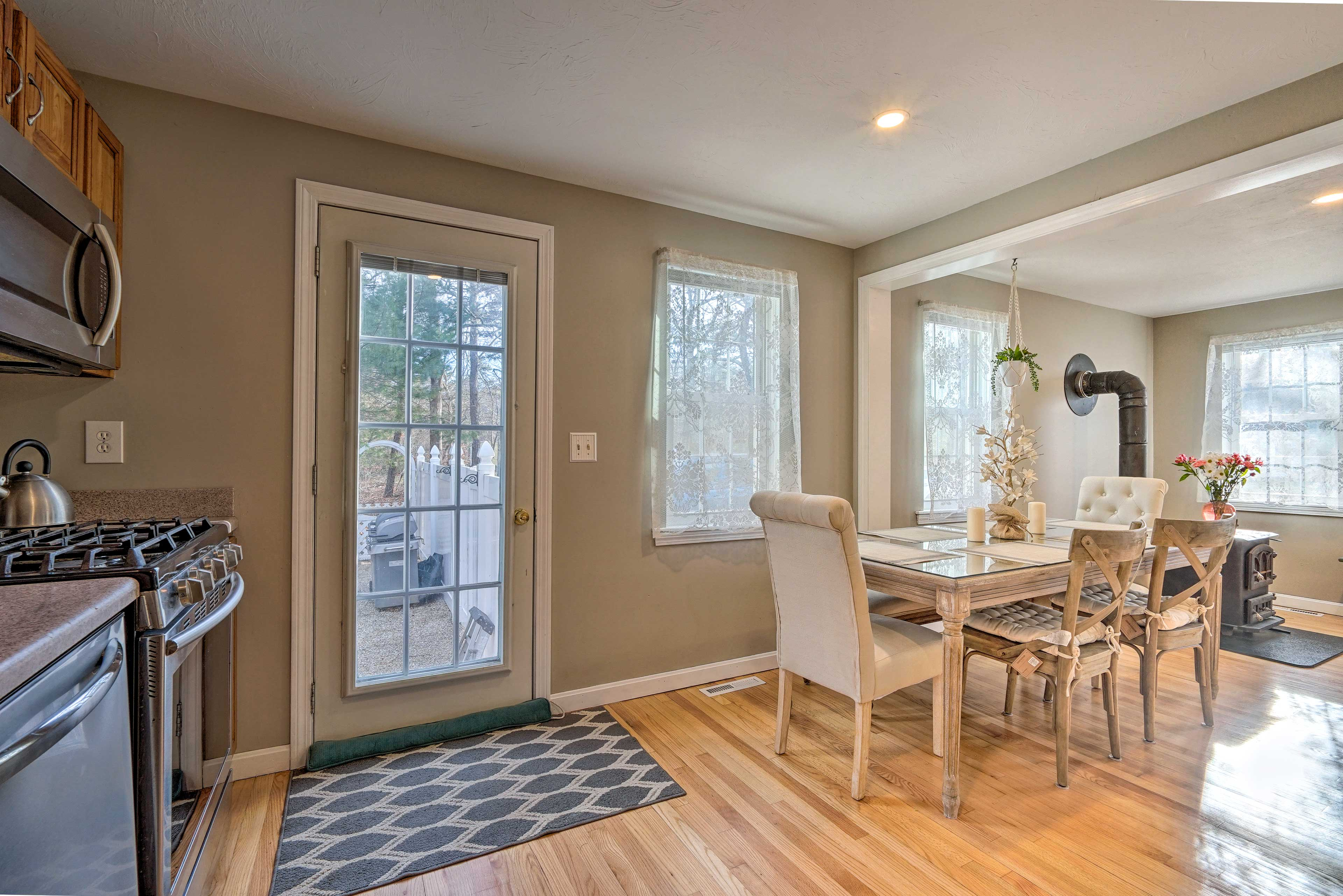 This family-friendly home has a great space for indoor & outdoor activities!