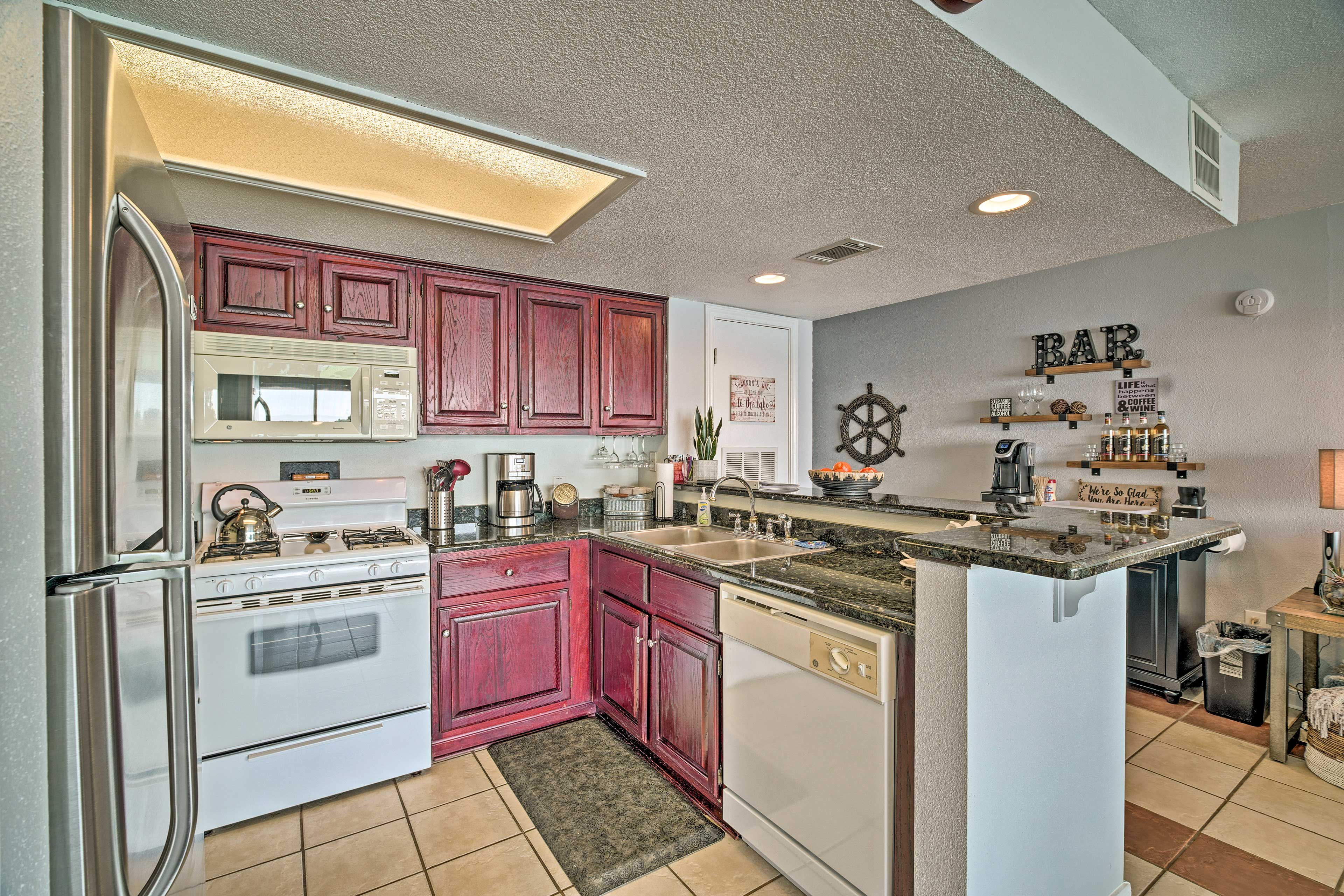 Fully Equipped Kitchen | Drip Coffee Maker | Tea Kettle