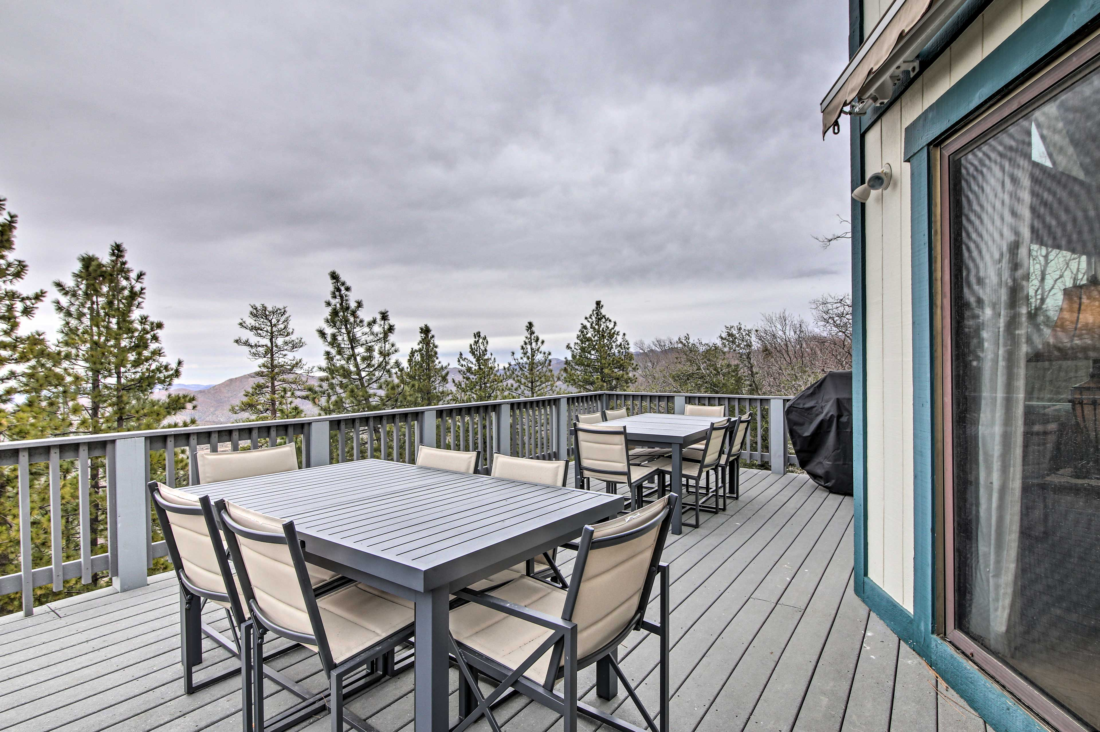 Have dinner with a view on this deck.