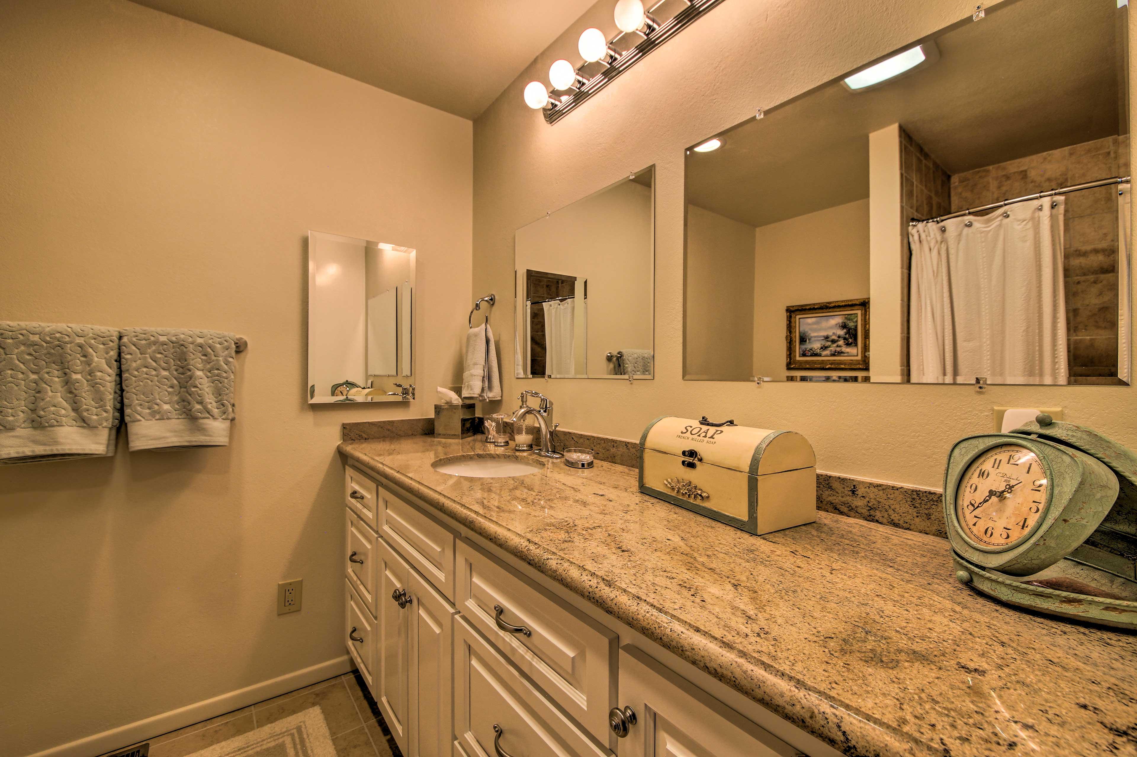 Take advantage of the convenient en-suite bathroom.