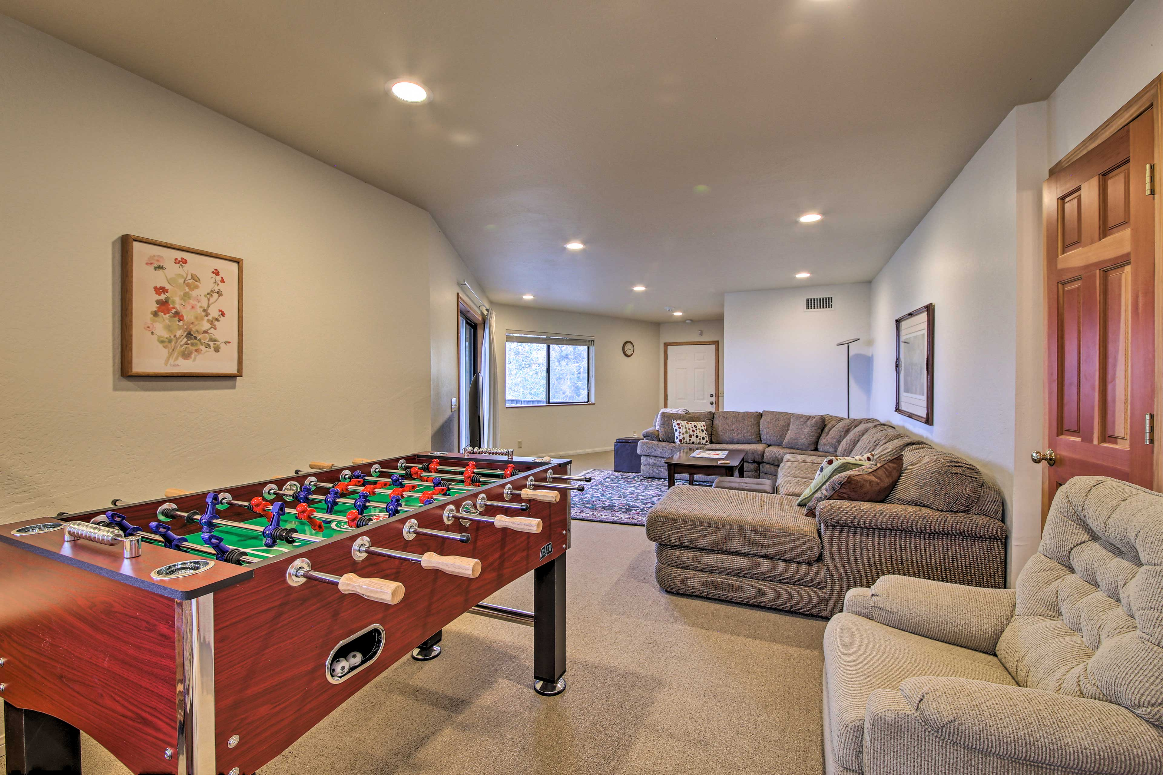 Challenge your loved one to a game of Foosball.