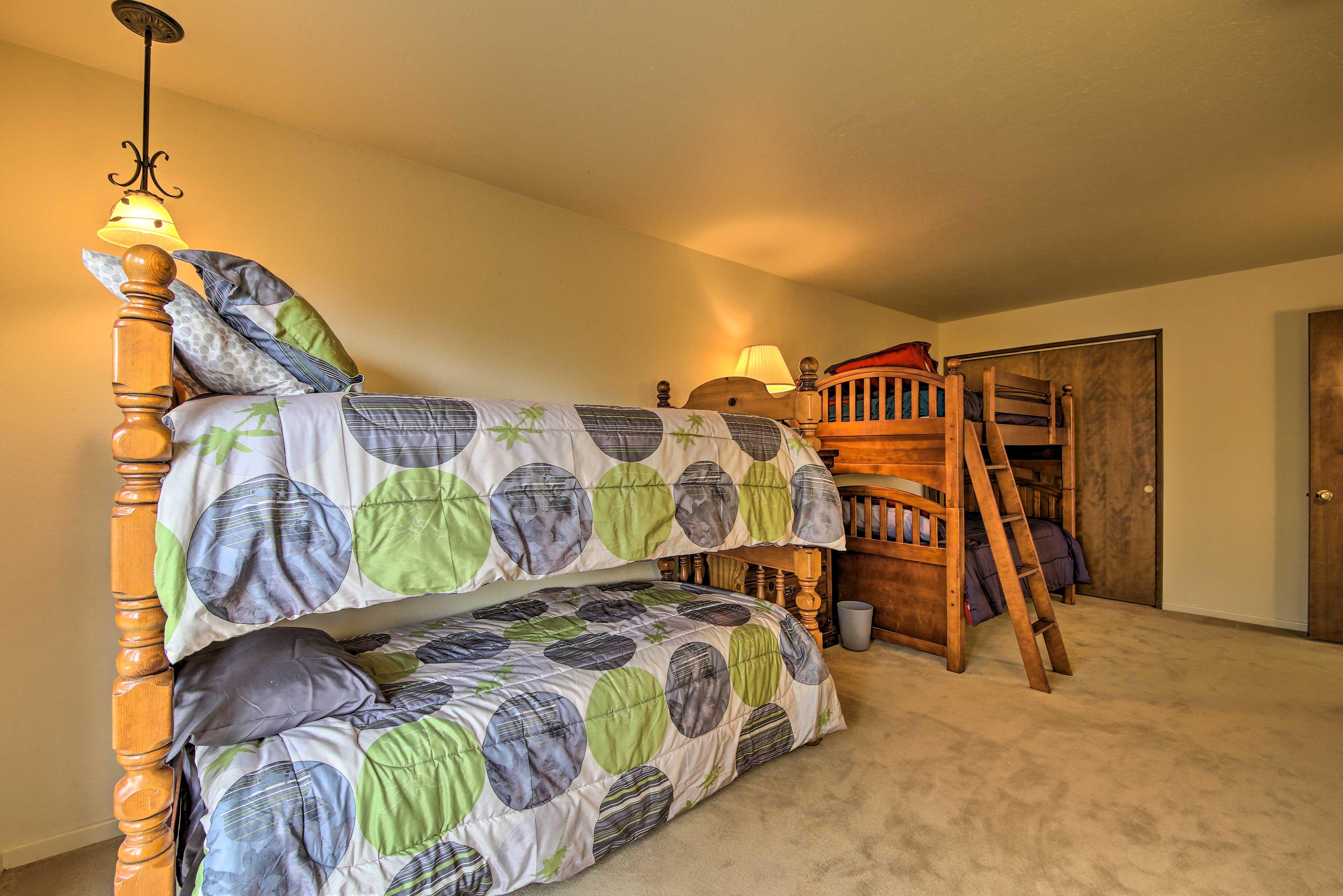 Have the kids sleep in bedroom 5.
