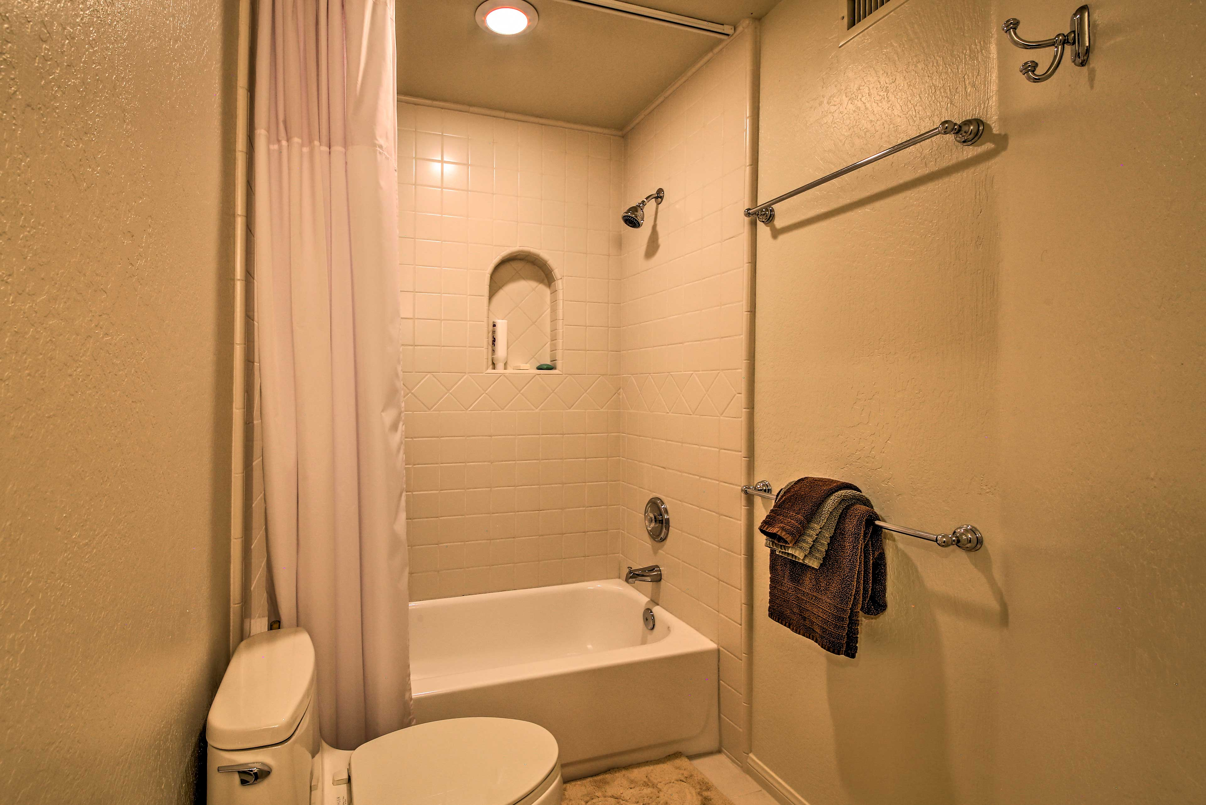 You'll never have to wait in line with the bathrooms that this home offers.