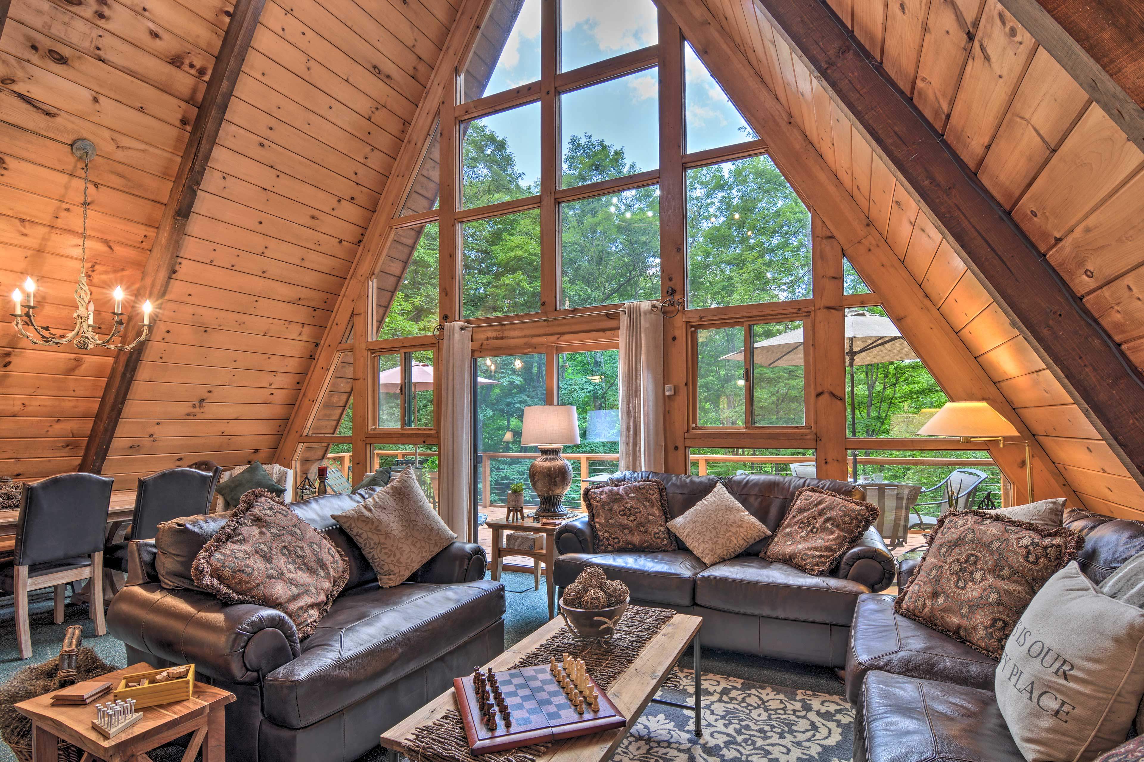 Stay at this unique, A-frame vacation rental on your next trip Up North!