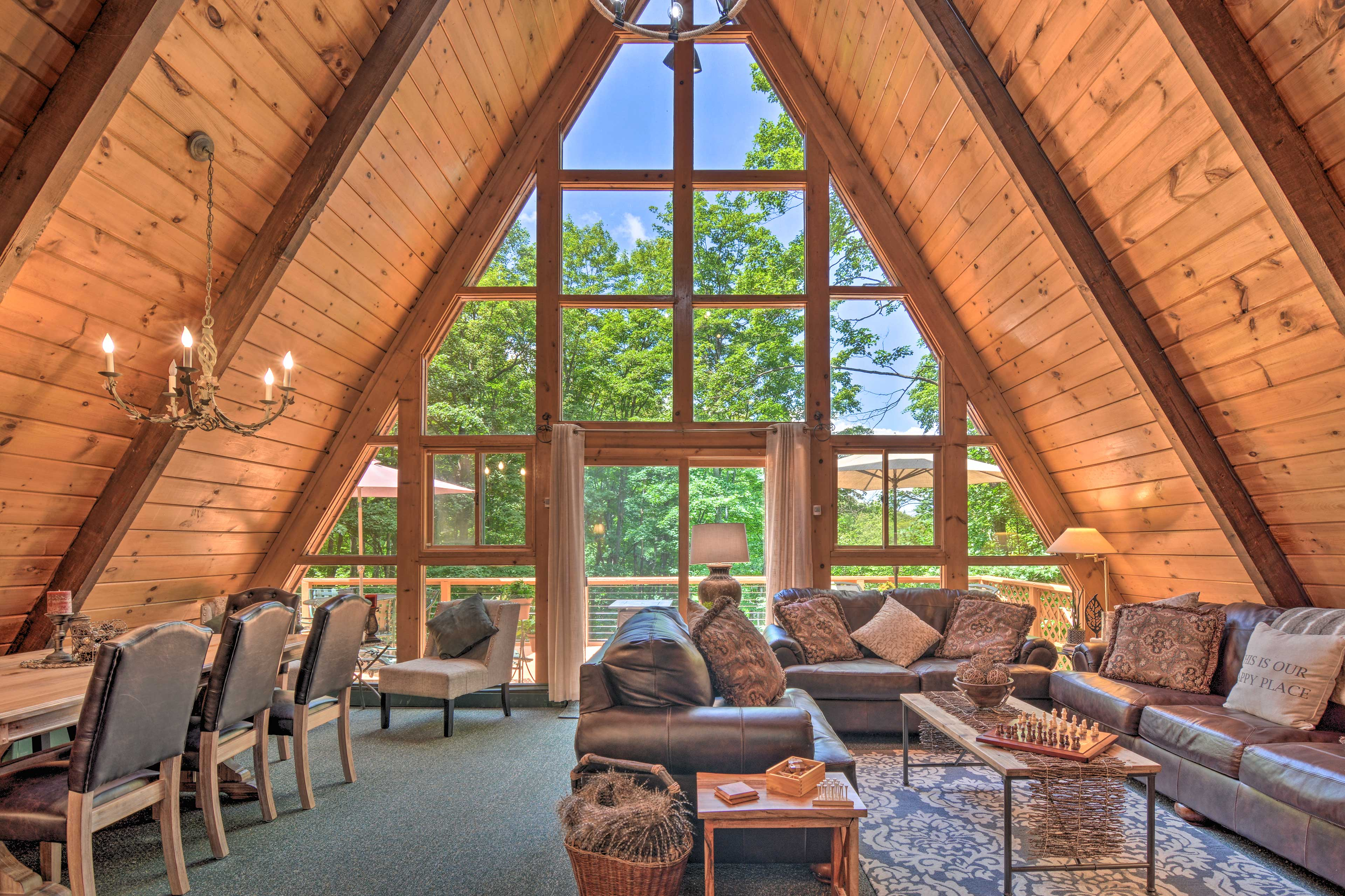 You'll find all the comforts of home inside this cozy getaway.