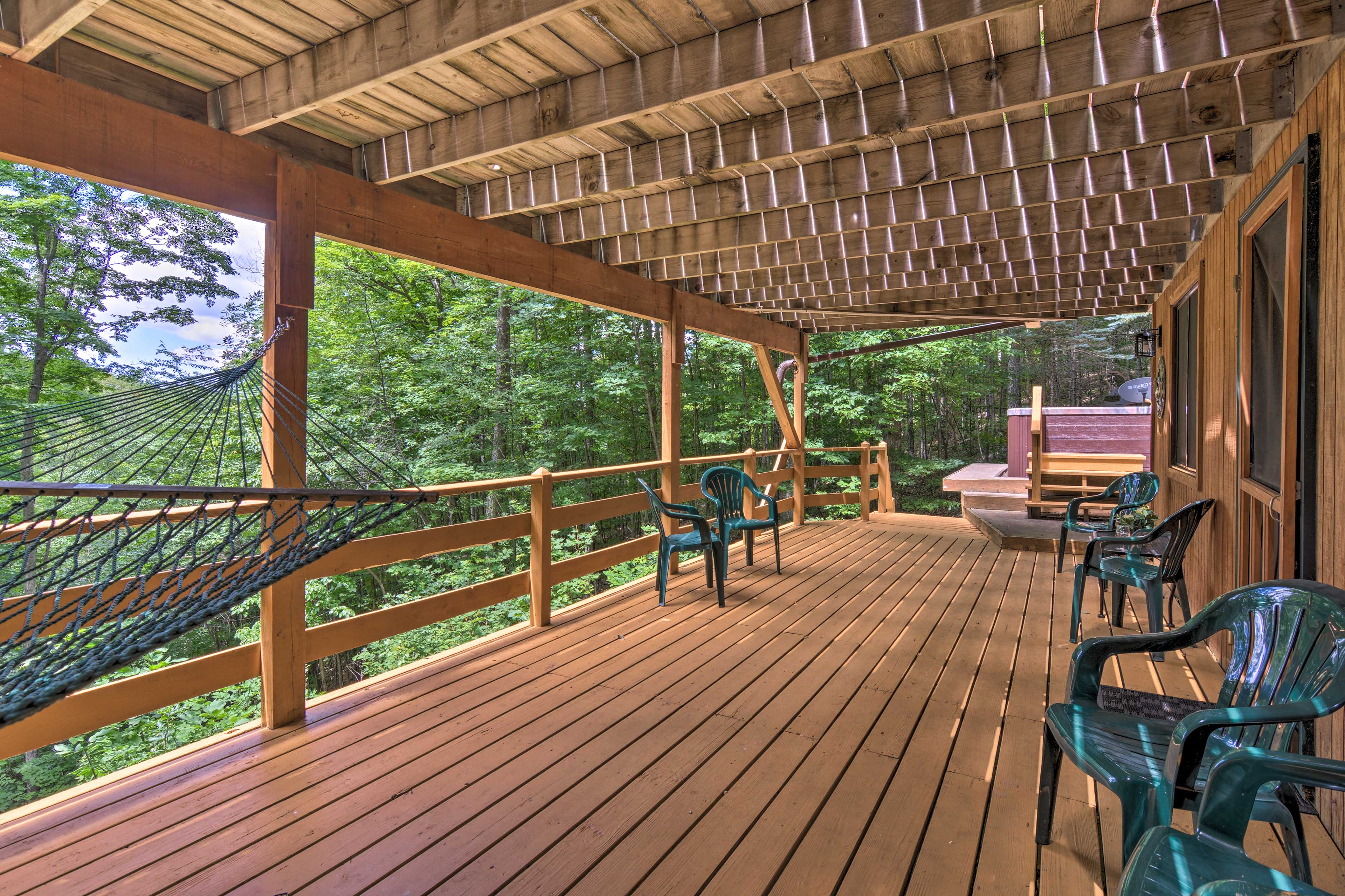Two decks ensure everyone has a place to relax outside.