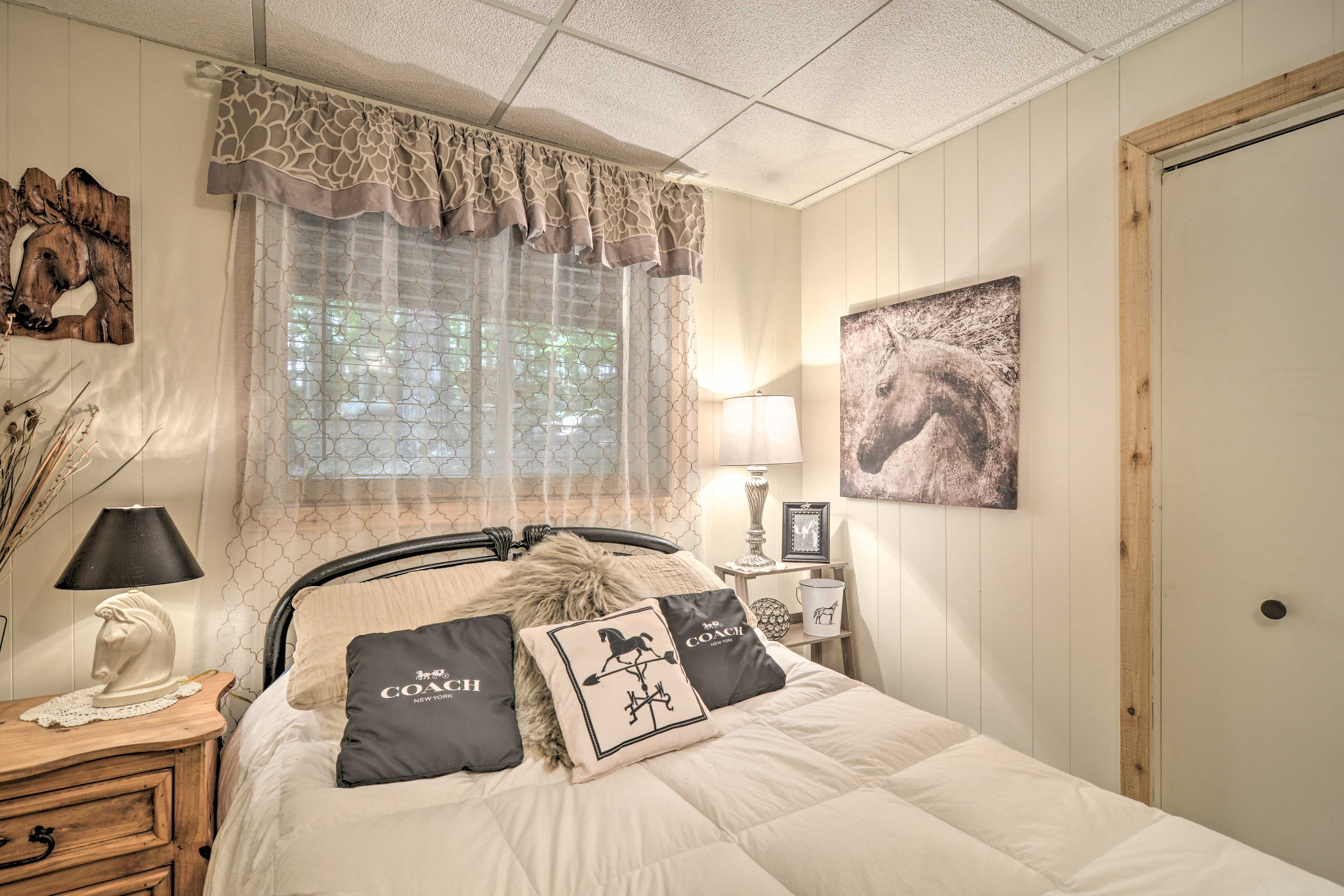 Each bedroom is beautifully appointed.