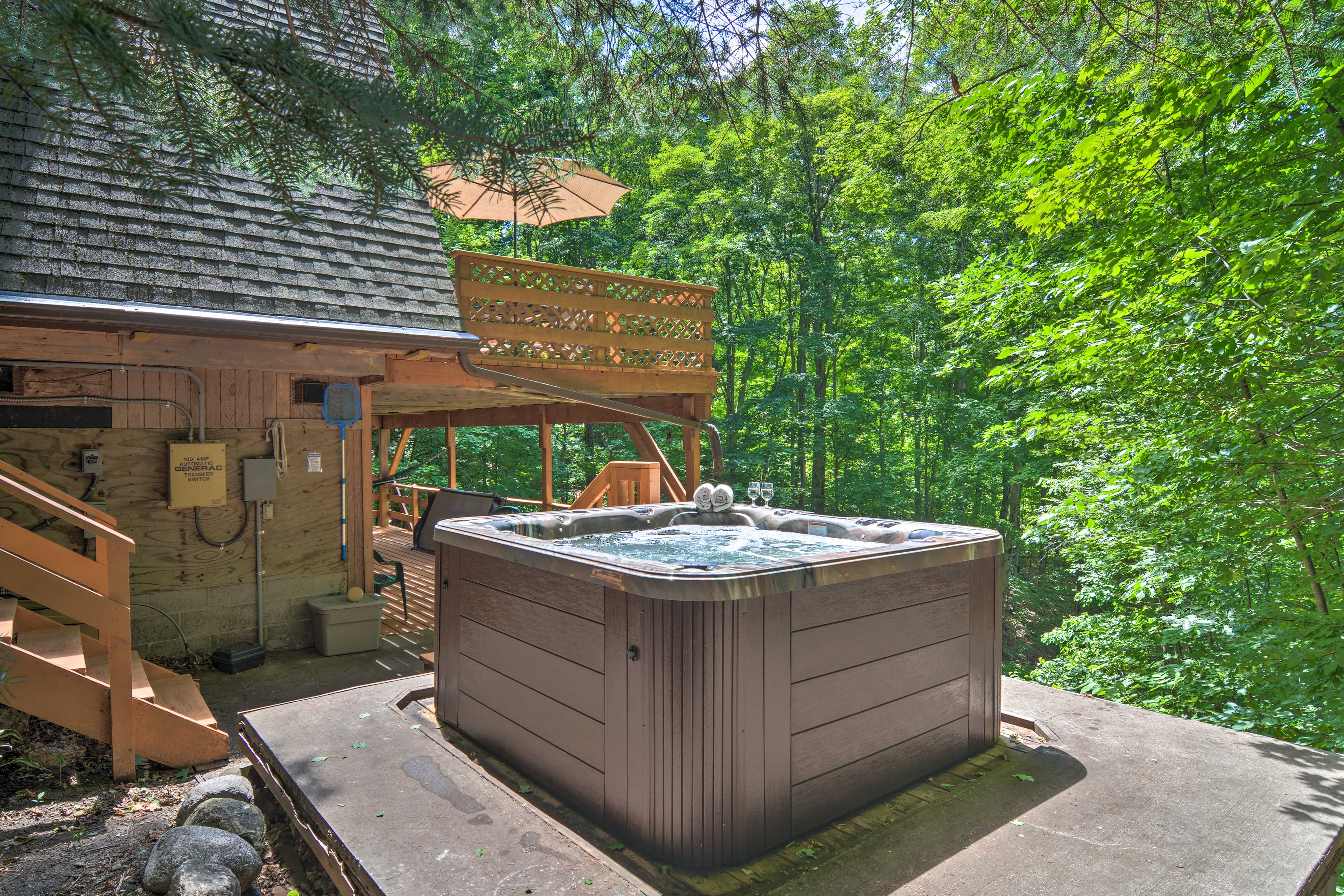 Go for a soak in the hot tub!
