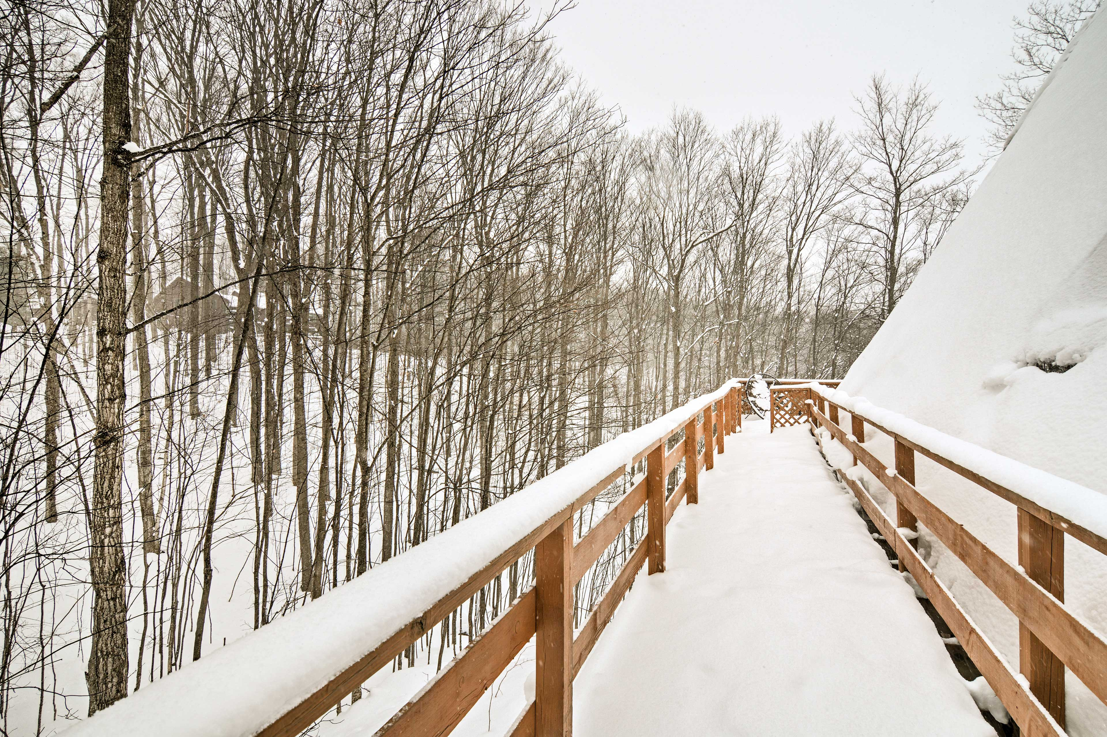 Enjoy the fresh air on the large, wraparound deck.