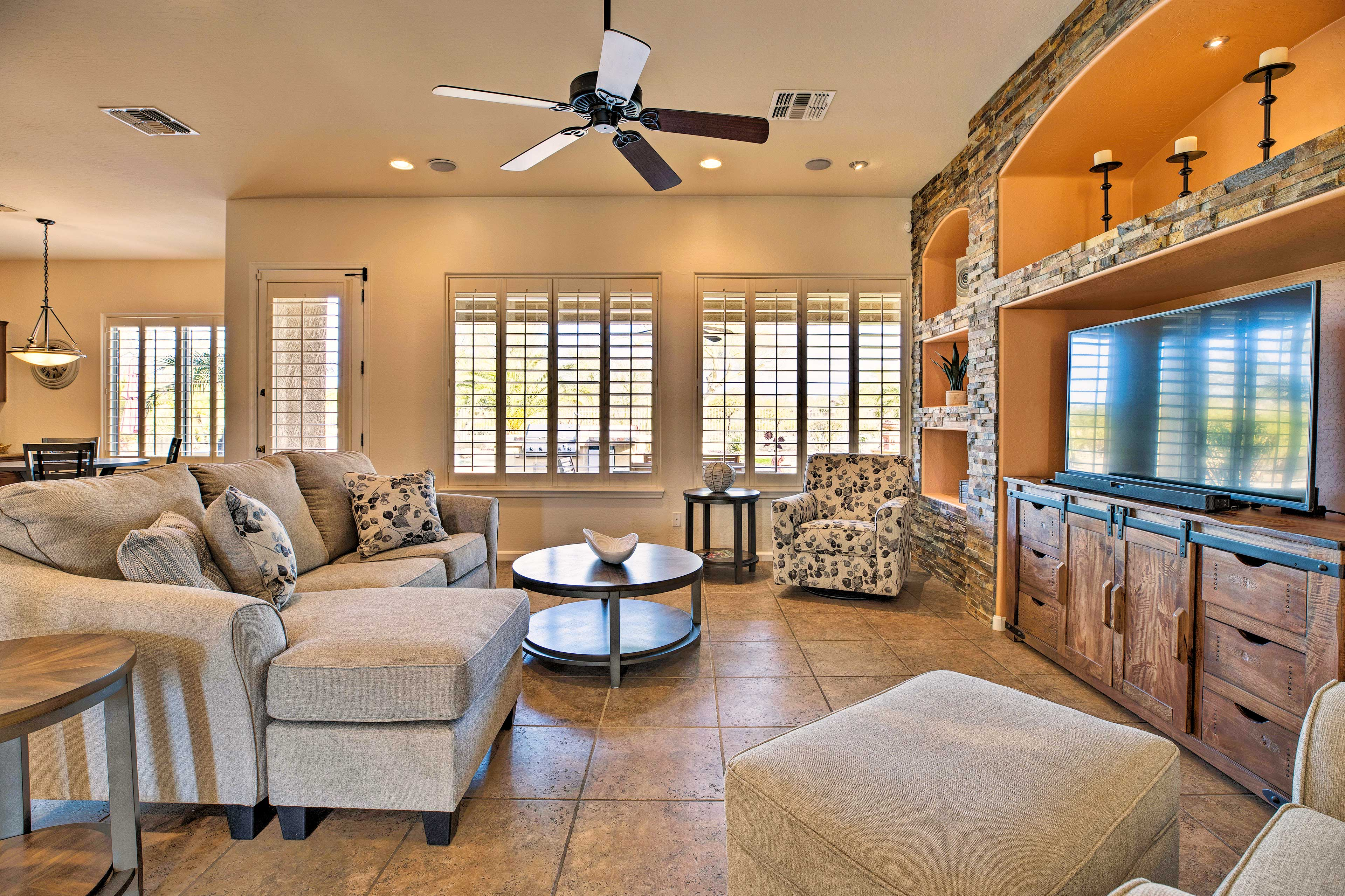 Inside the vacation rental, you'll find all of the comforts of home and more!