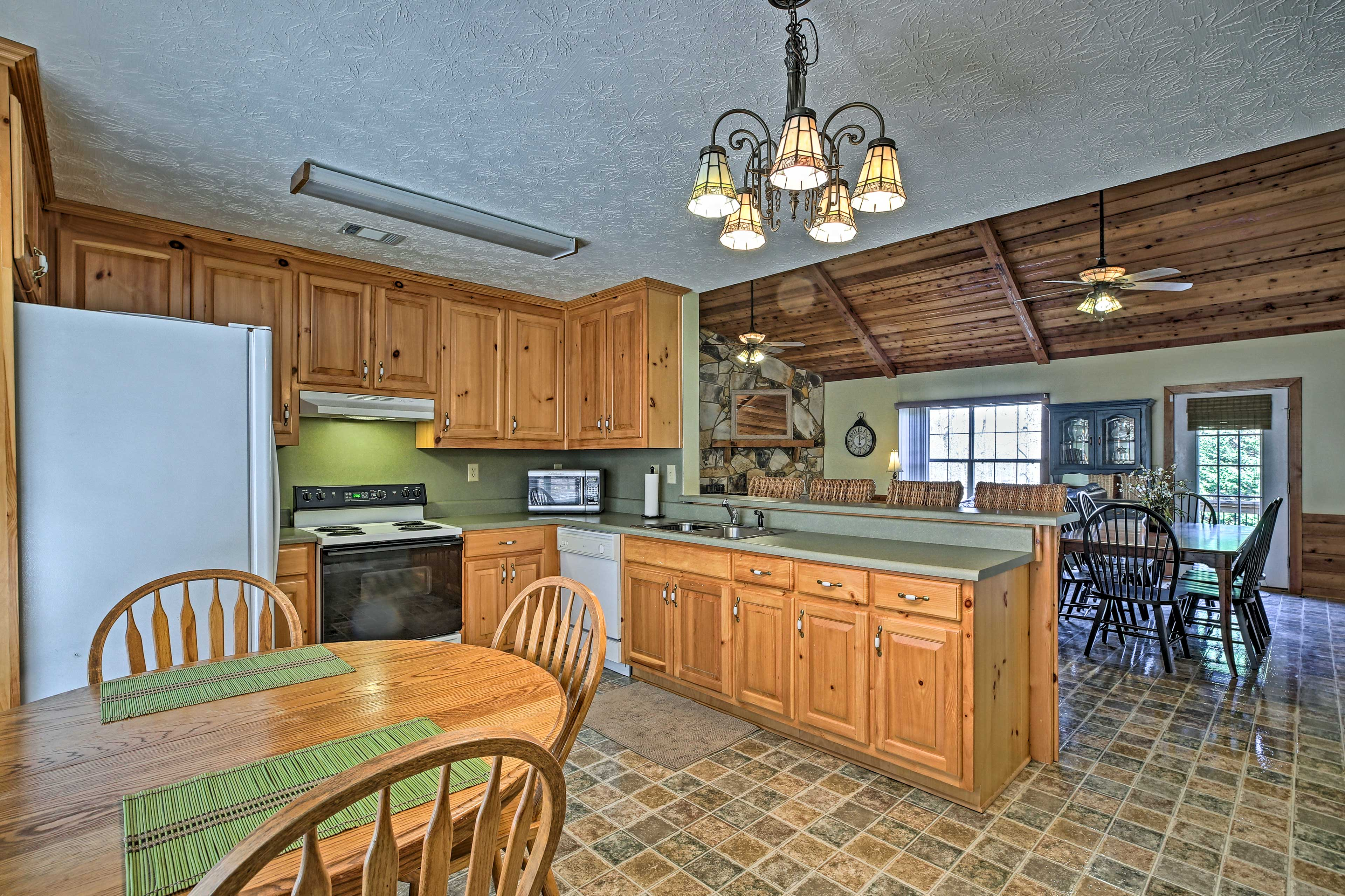 There is plenty of seating for you and your family in this home.
