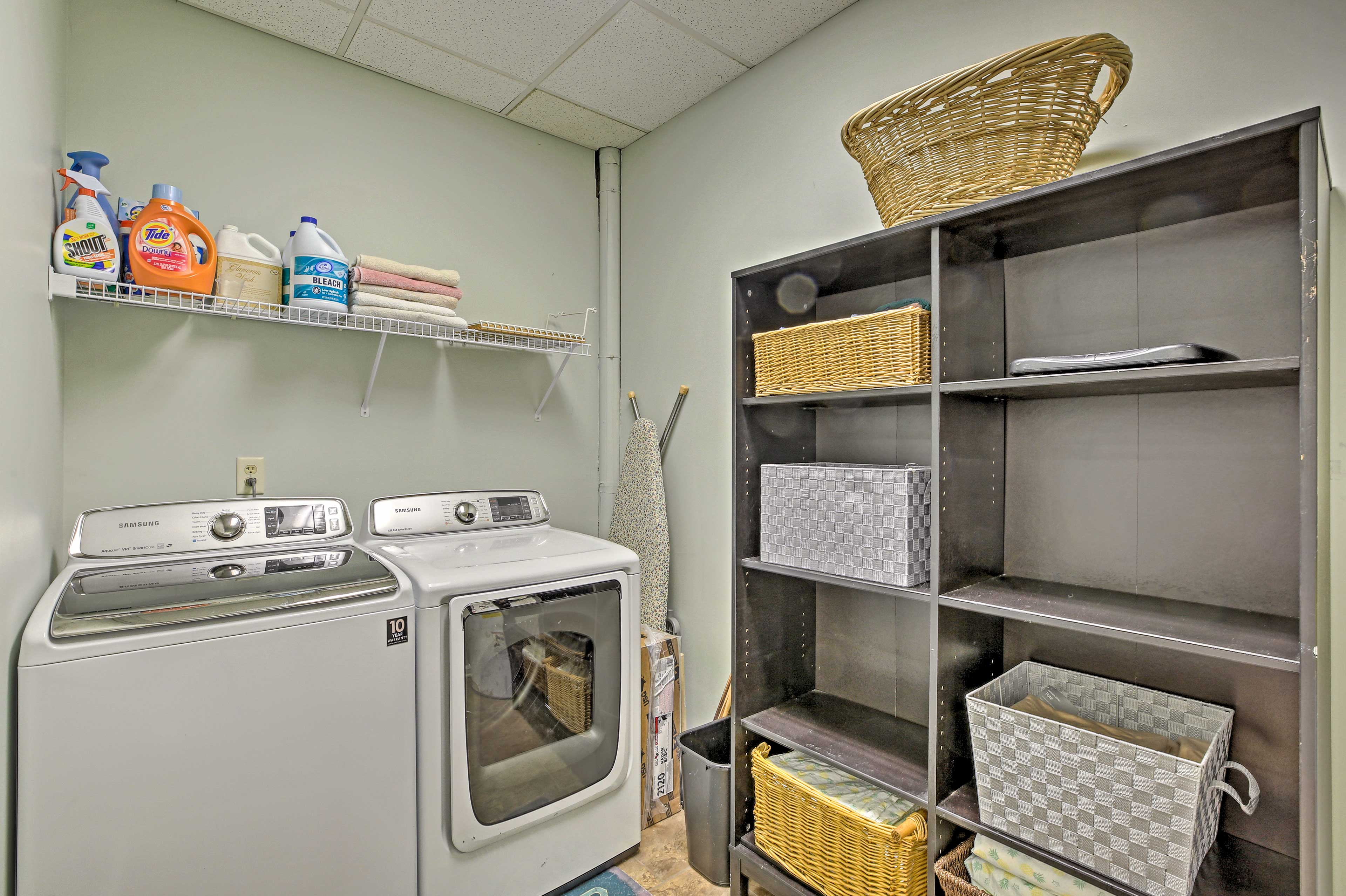 Take care of your clothes by using the convenient washer and dryer machine.