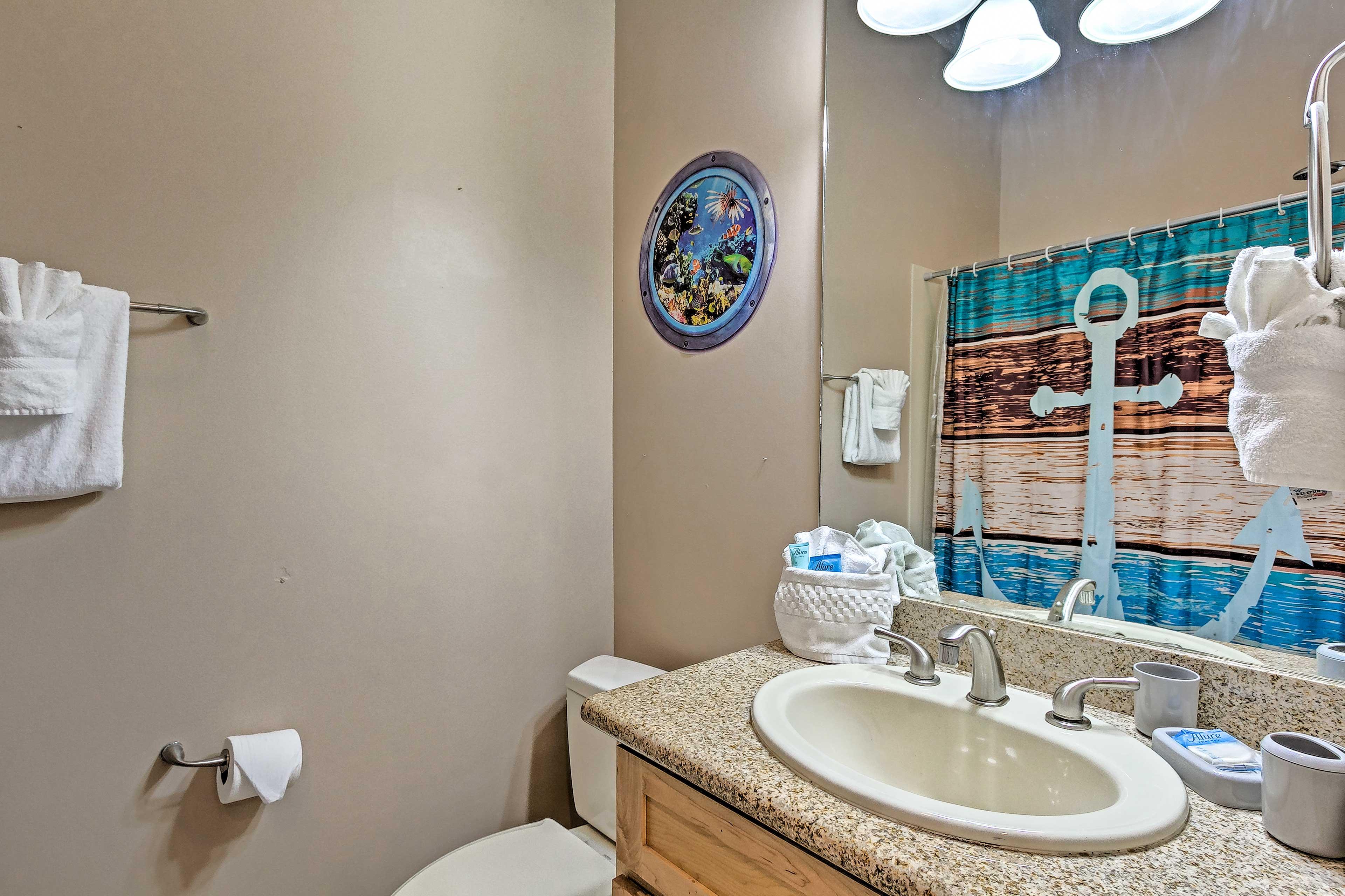 Freshen up in this private en-suite bathroom.