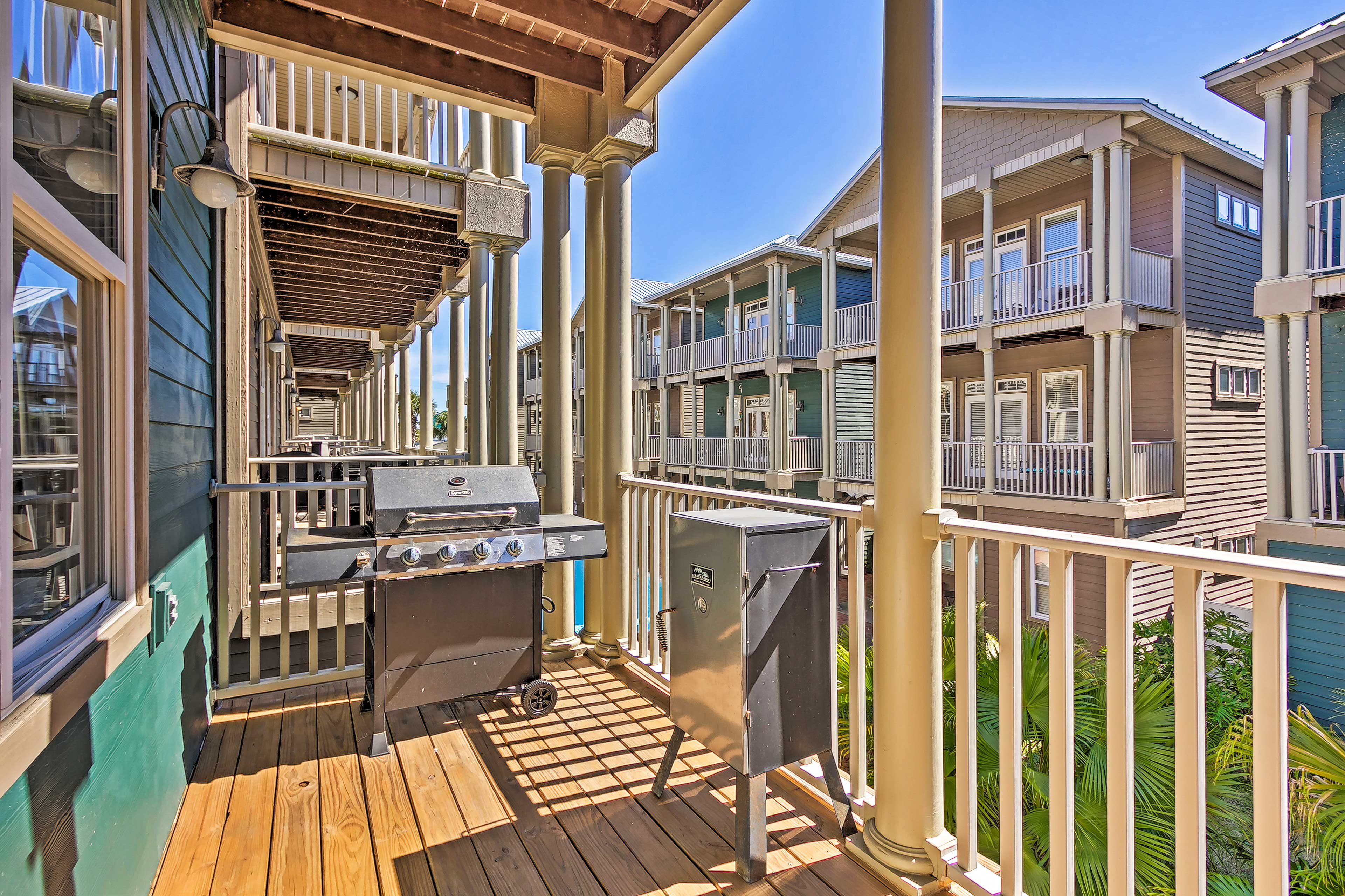 This spacious spot sits just 2 blocks from a beach access point.