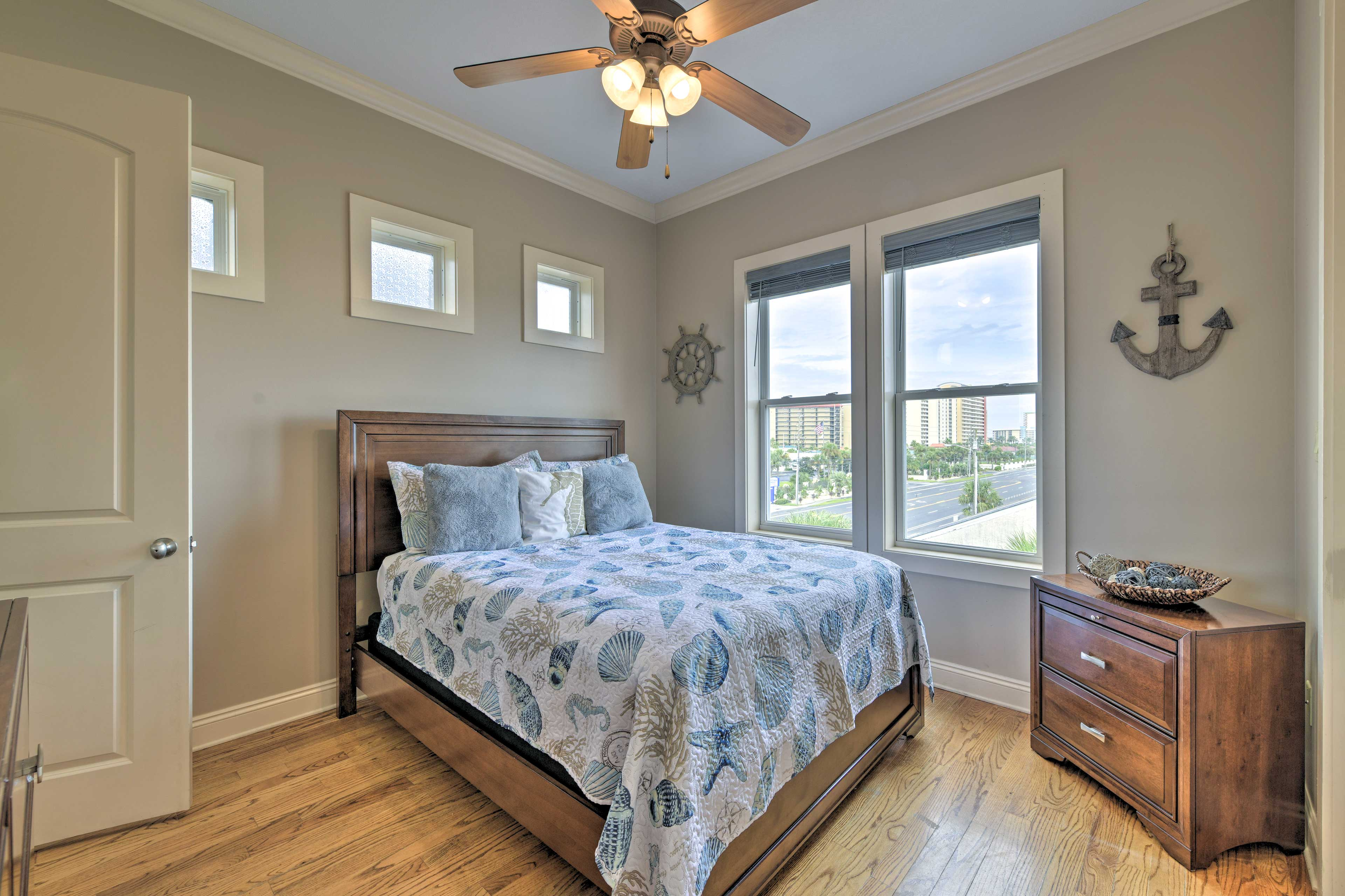 This next bedroom also includes a queen bed.