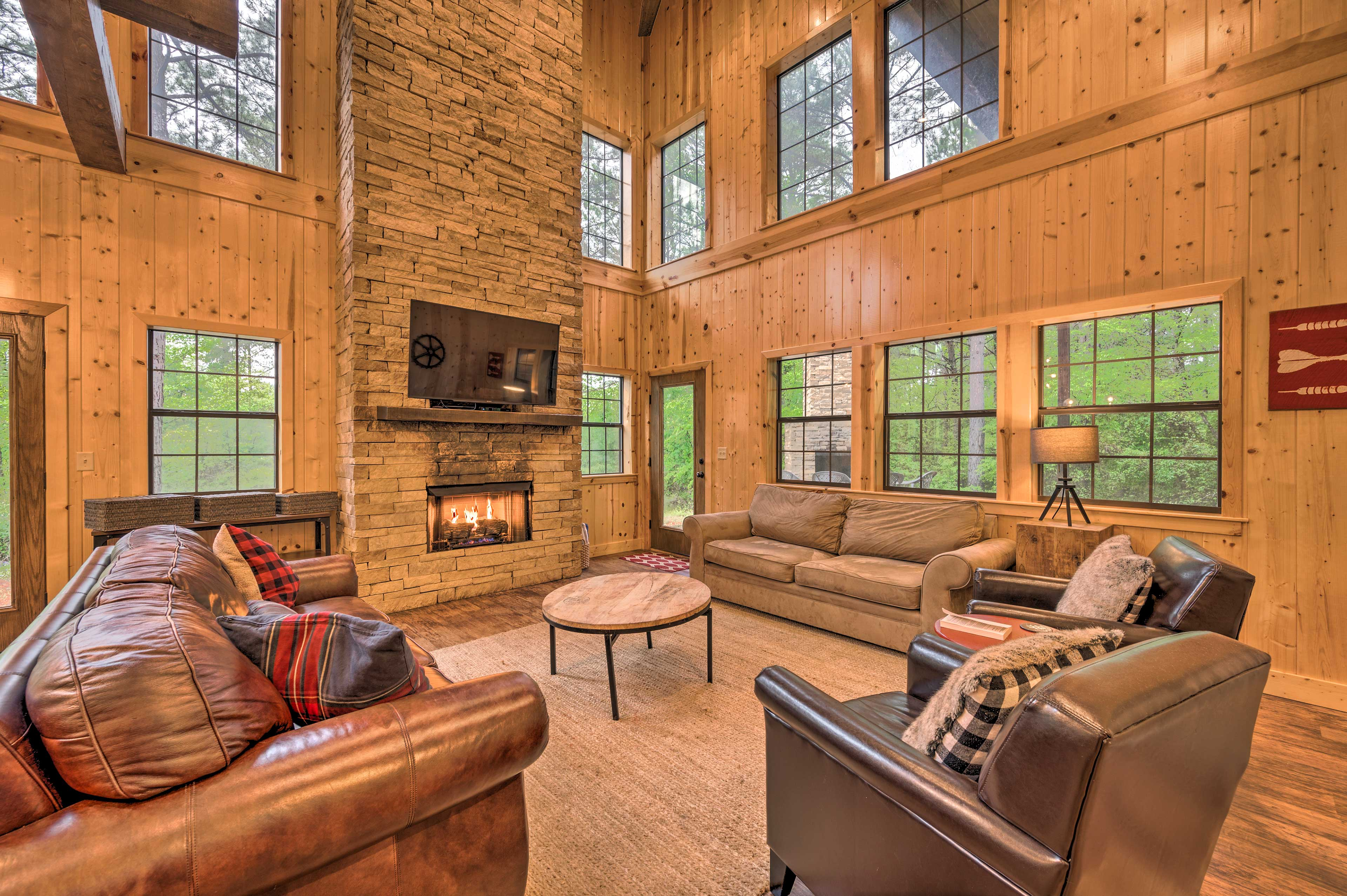 Living Room | Gas Fireplace | Smart TV w/ YouTube TV