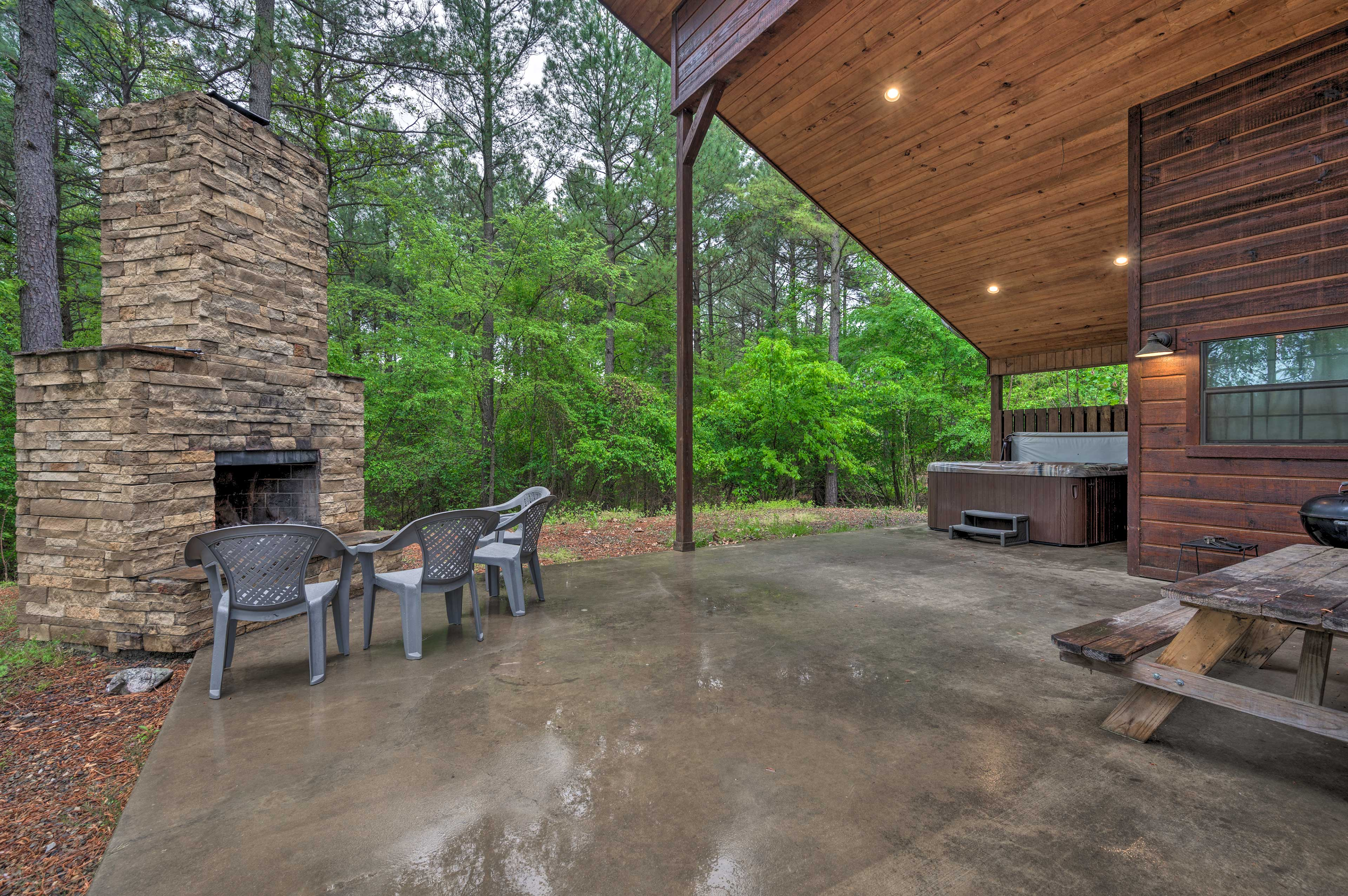 Private Partially Covered Patio
