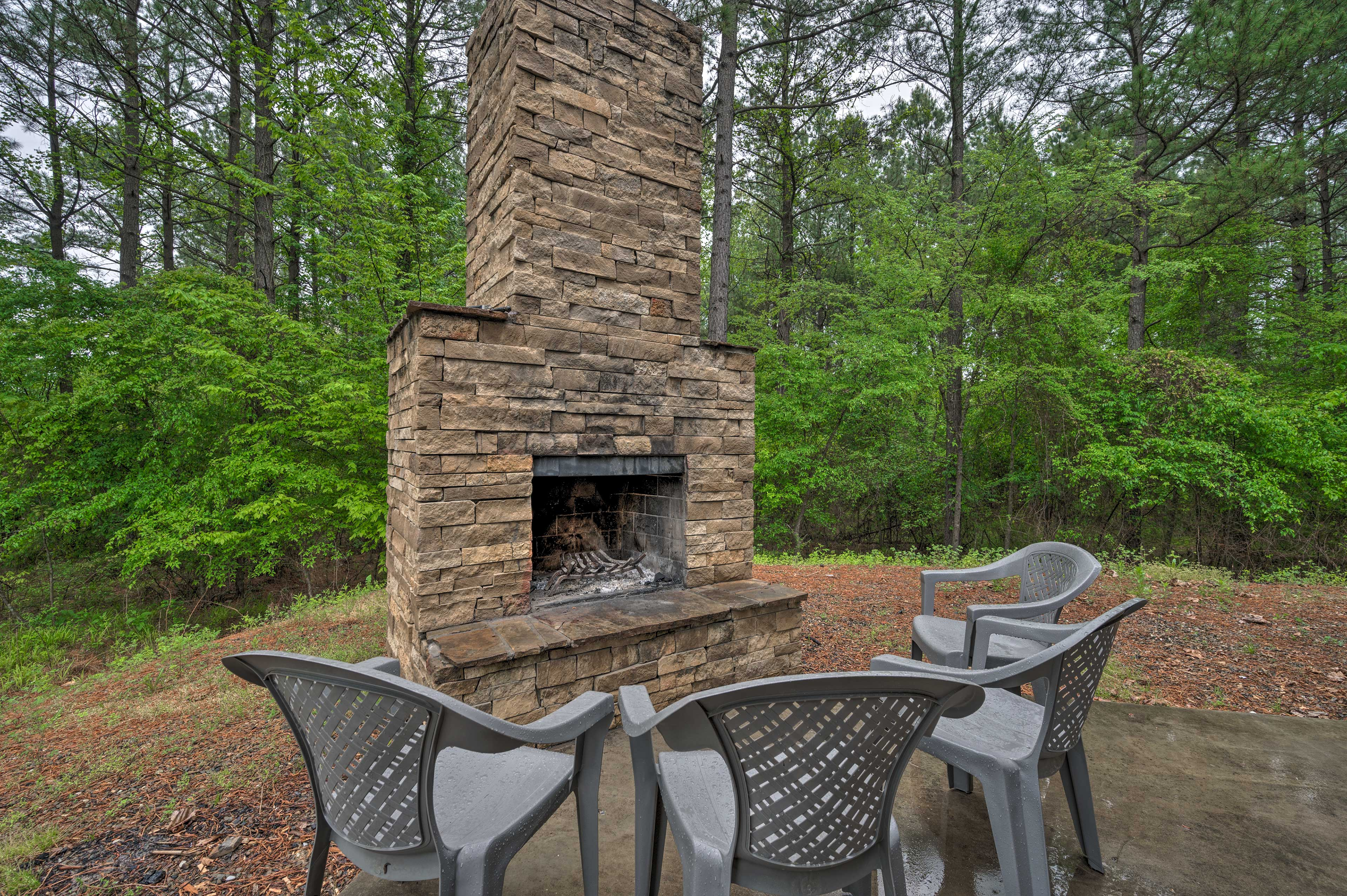 Private Partially Covered Patio | Outdoor Fireplace
