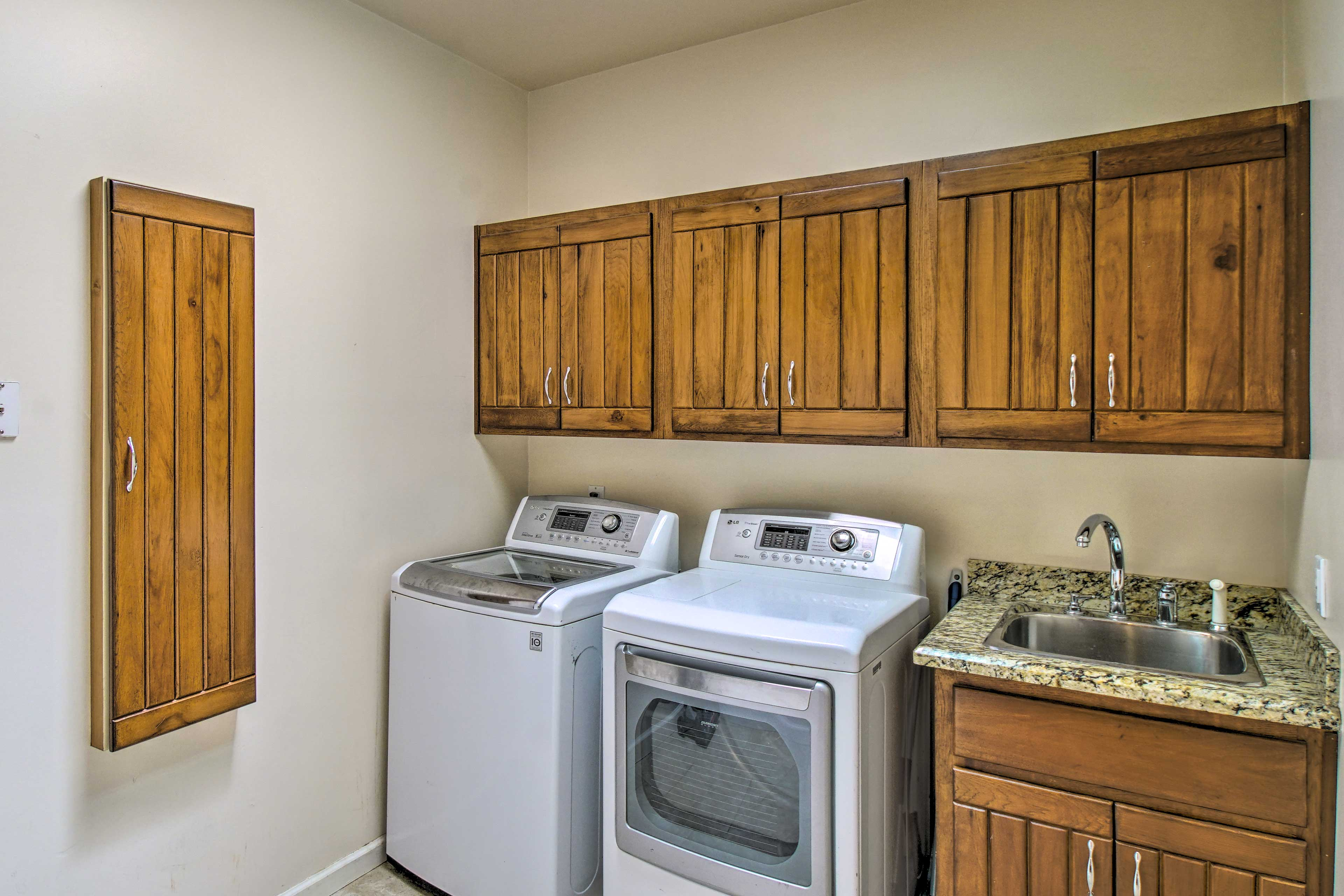 Book a longer stay and enjoy the convenience of in-unit laundry.
