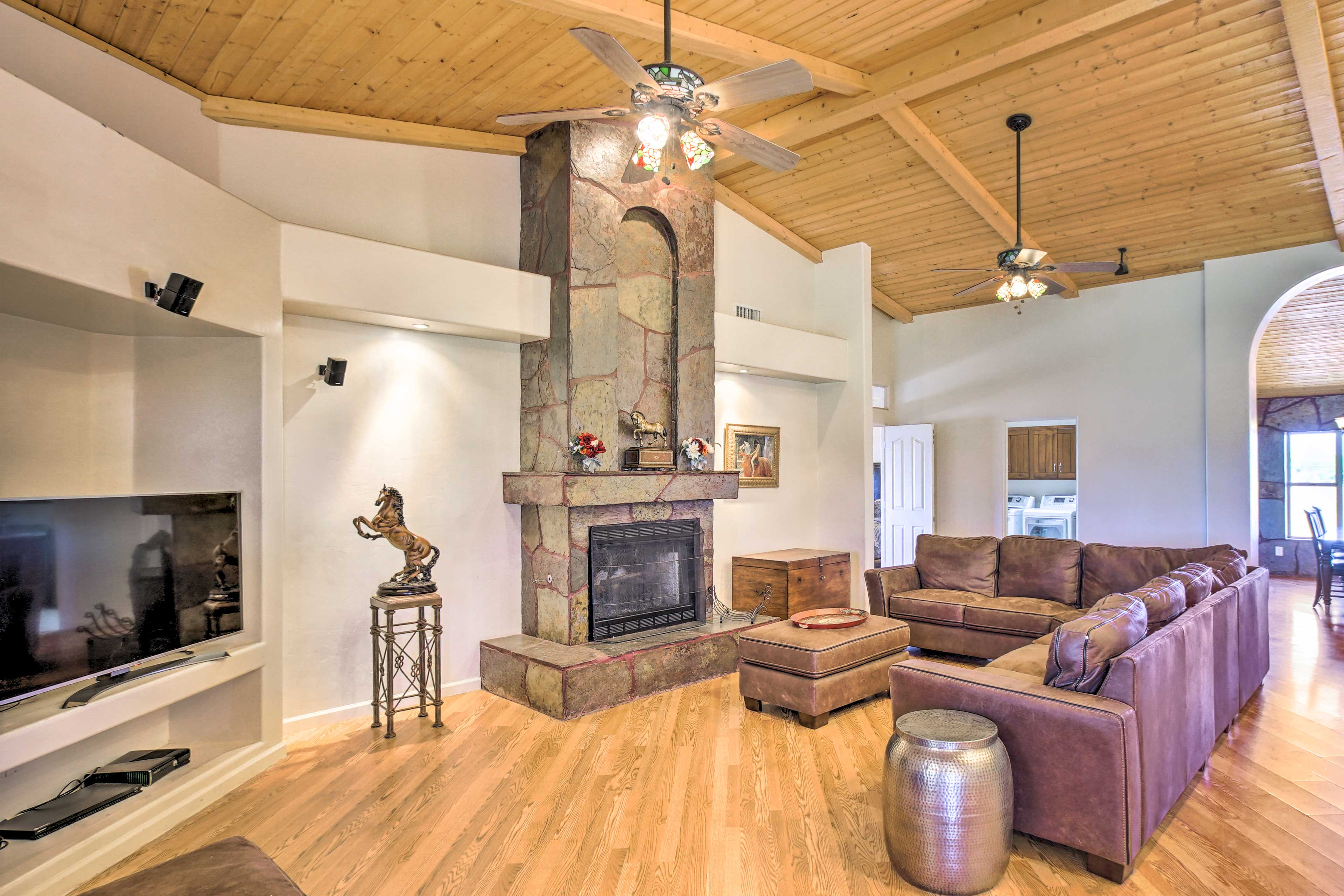 The interior boasts almost 3,000 square feet of luxurious living space.